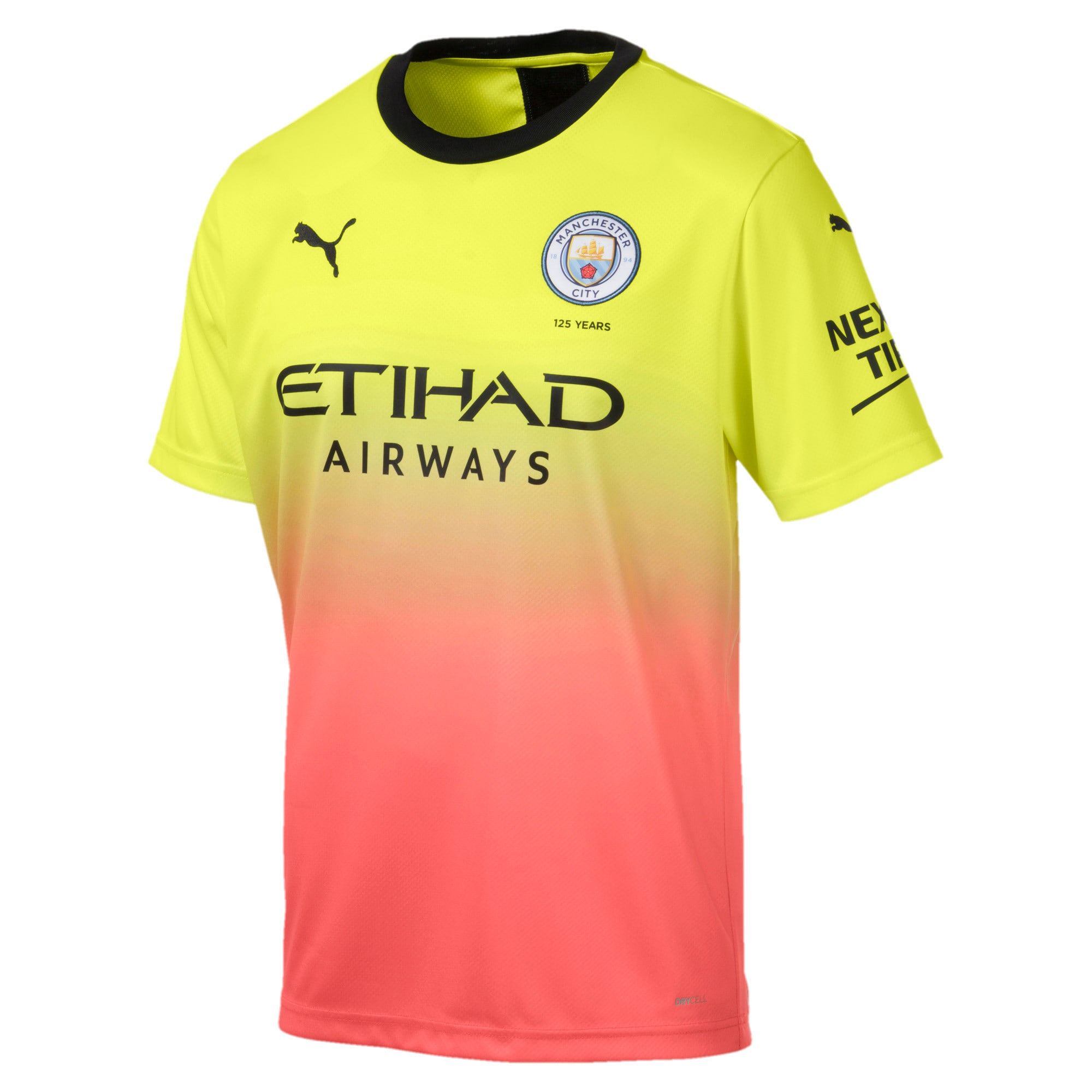 Thumbnail 1 of Man City Men's Replica Third Jersey, Fizzy Yellow-Georgia Peach, medium