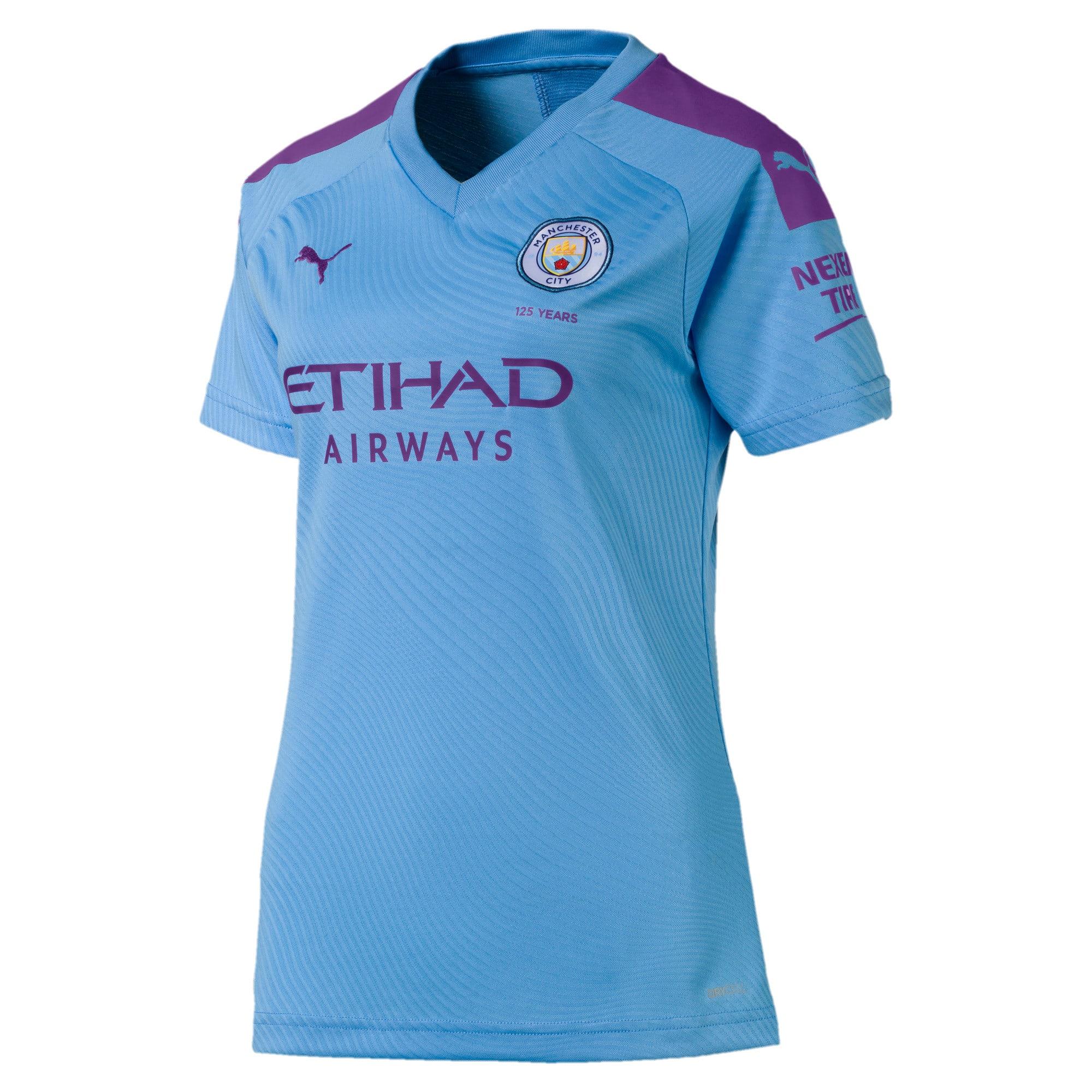 Thumbnail 1 of Manchester City FC Damen Replica Heimtrikot, TeamLightBlue-TillandsiaPurp, medium