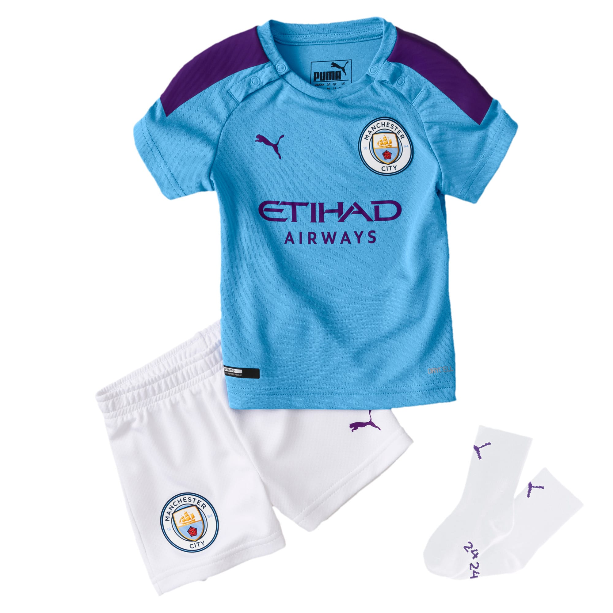 Thumbnail 1 of Man City Babies' Home Mini Kit, TeamLightBlue-TillandsiaPurp, medium
