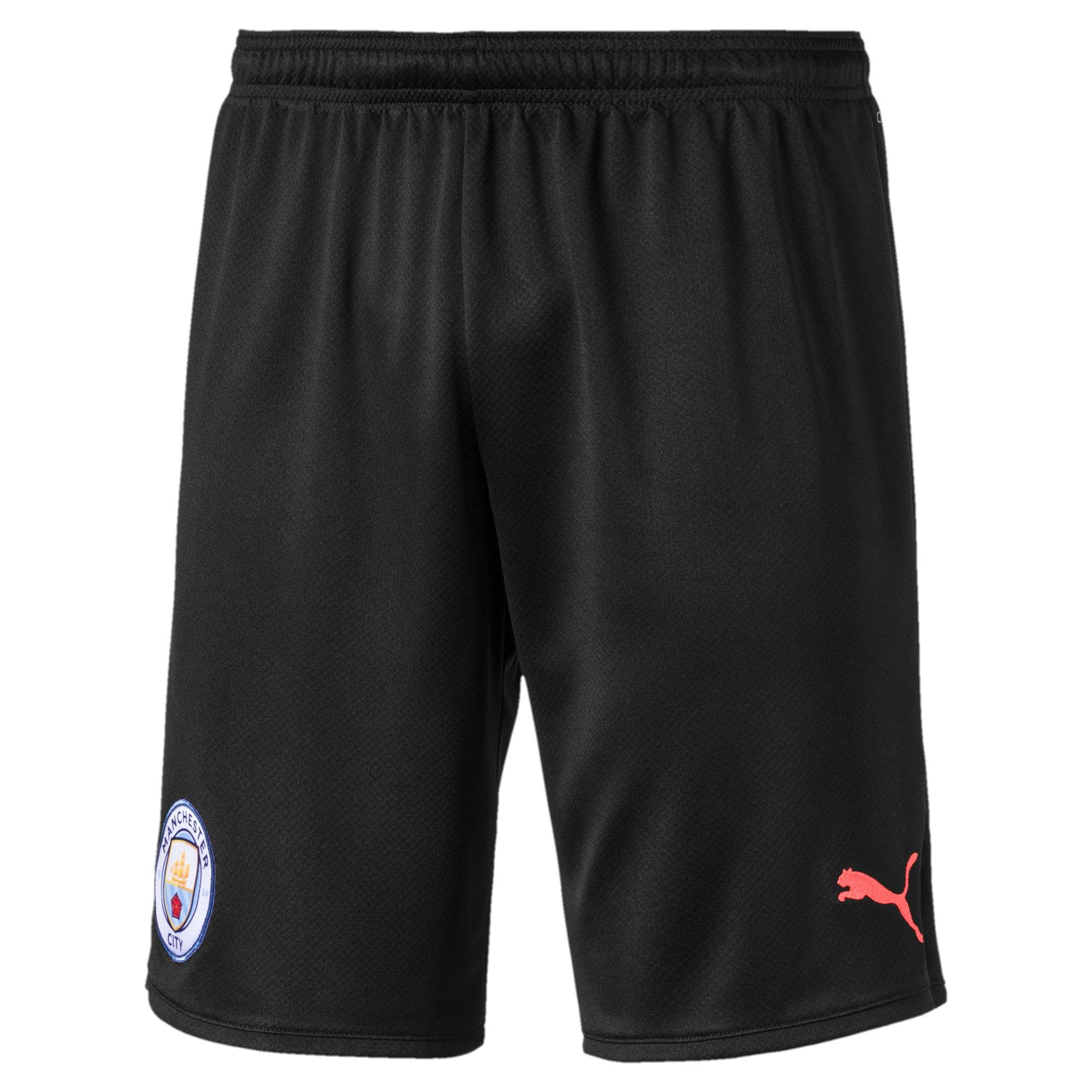 Thumbnail 1 of Manchester City Men's Third Replica Shorts, Puma Black-Georgia Peach, medium