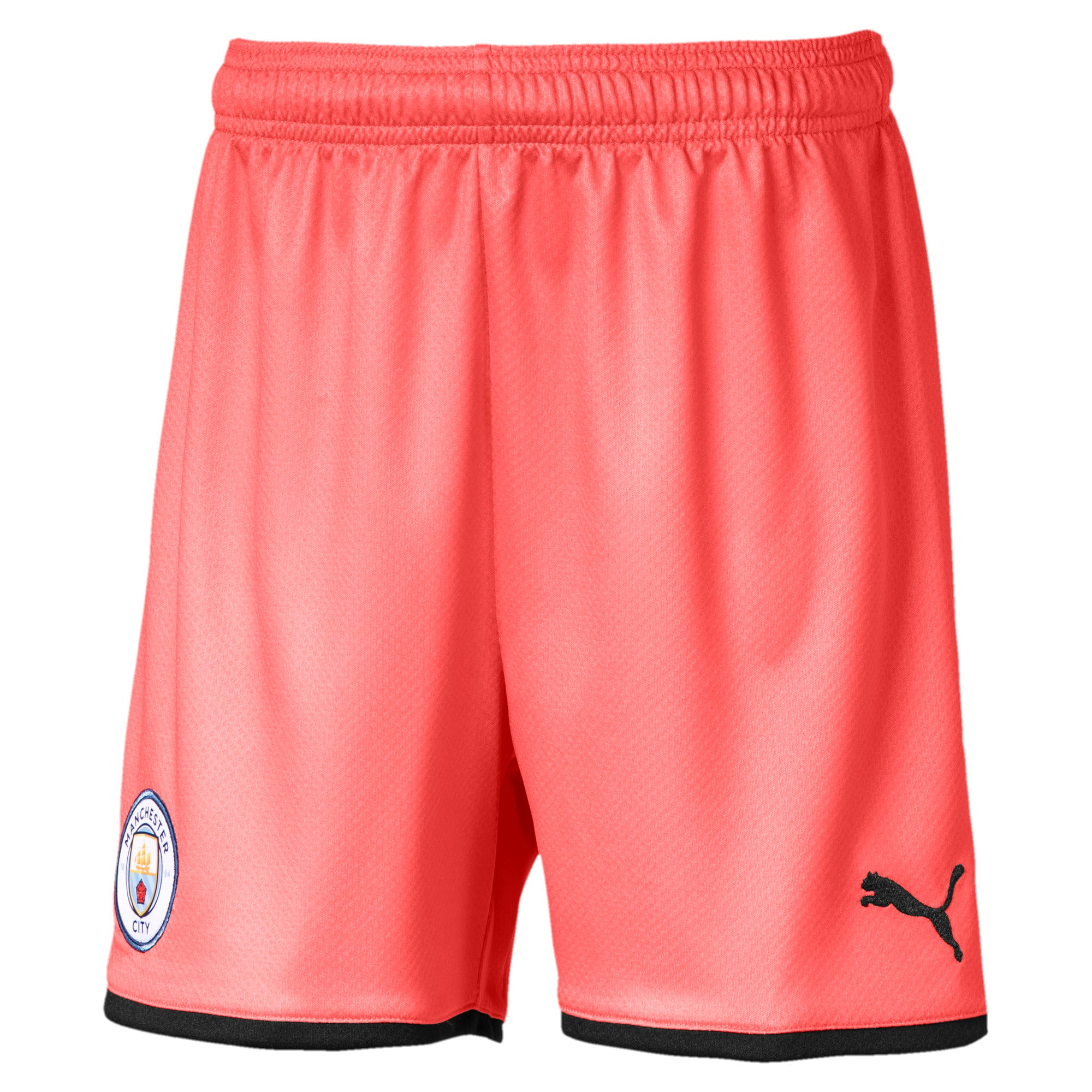 Thumbnail 1 of Manchester City FC Kids' Third Replica Shorts, Georgia Peach-Puma Black, medium