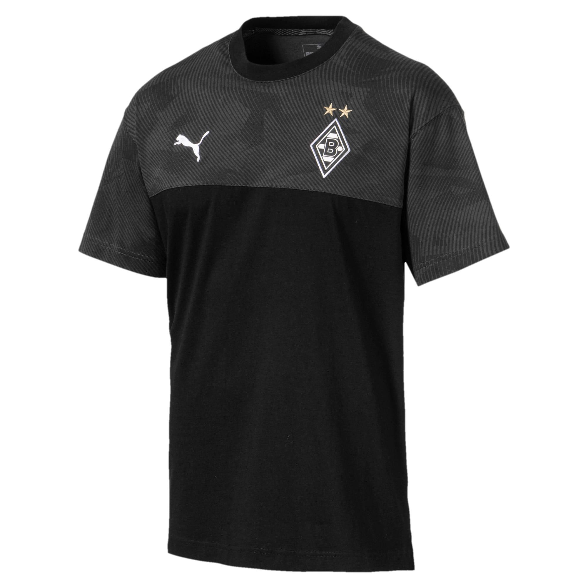 Thumbnail 4 of Borussia Mönchengladbach Casuals Men's Tee, Puma Black-Phantom Black, medium
