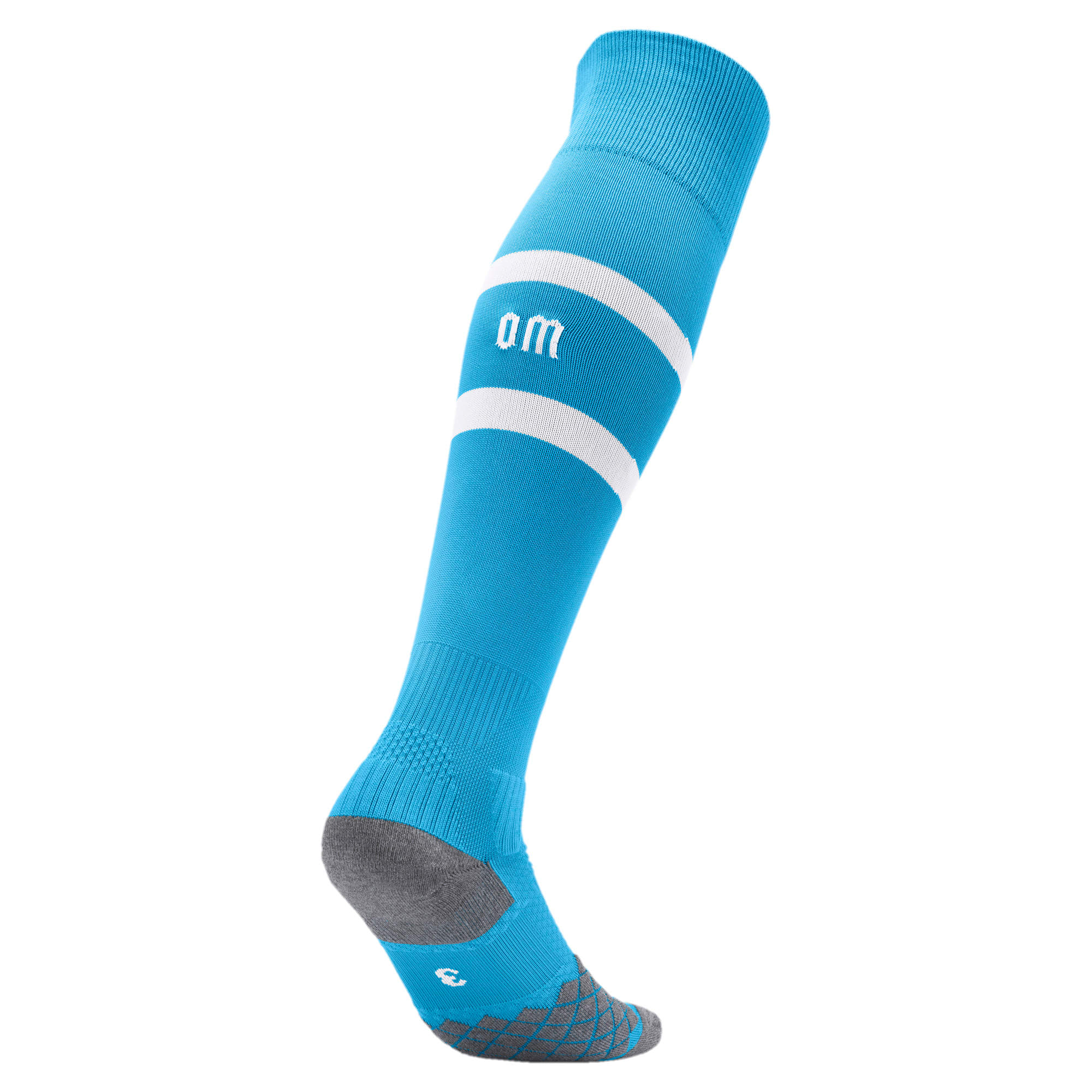 Thumbnail 2 of Olympique de Marseille Boys' Band Socks, Bleu Azur-Puma White, medium