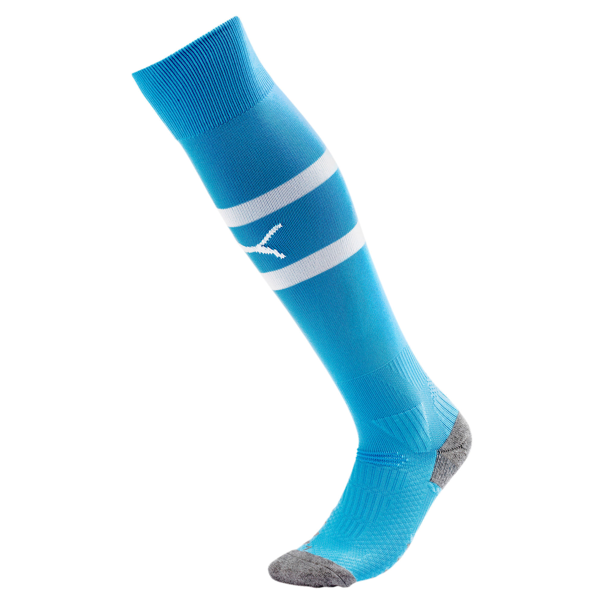 Thumbnail 1 of Olympique de Marseille Boys' Band Socks, Bleu Azur-Puma White, medium