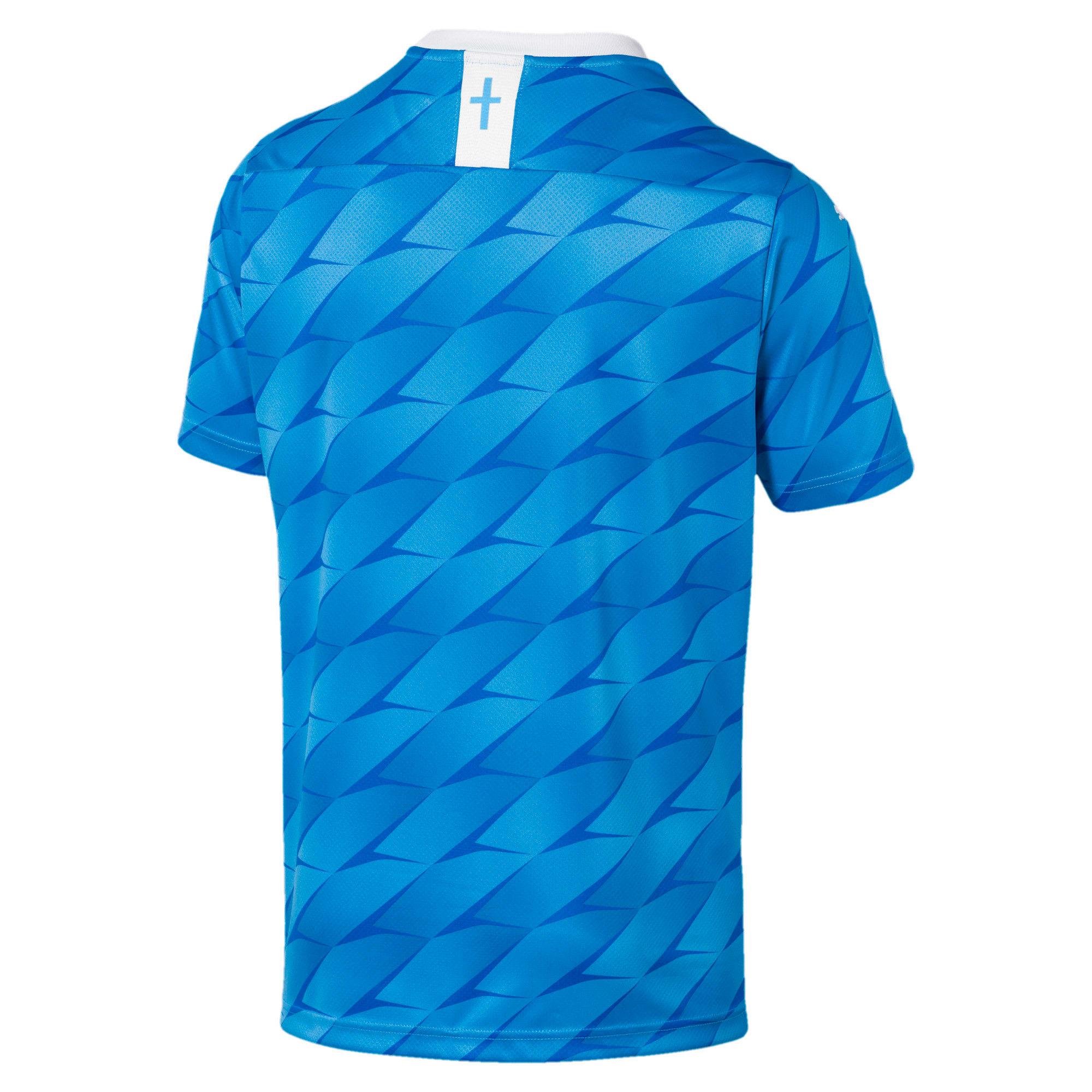 Thumbnail 2 of Olympique de Marseille Men's Away Replica Jersey, Bleu Azur-Puma White, medium