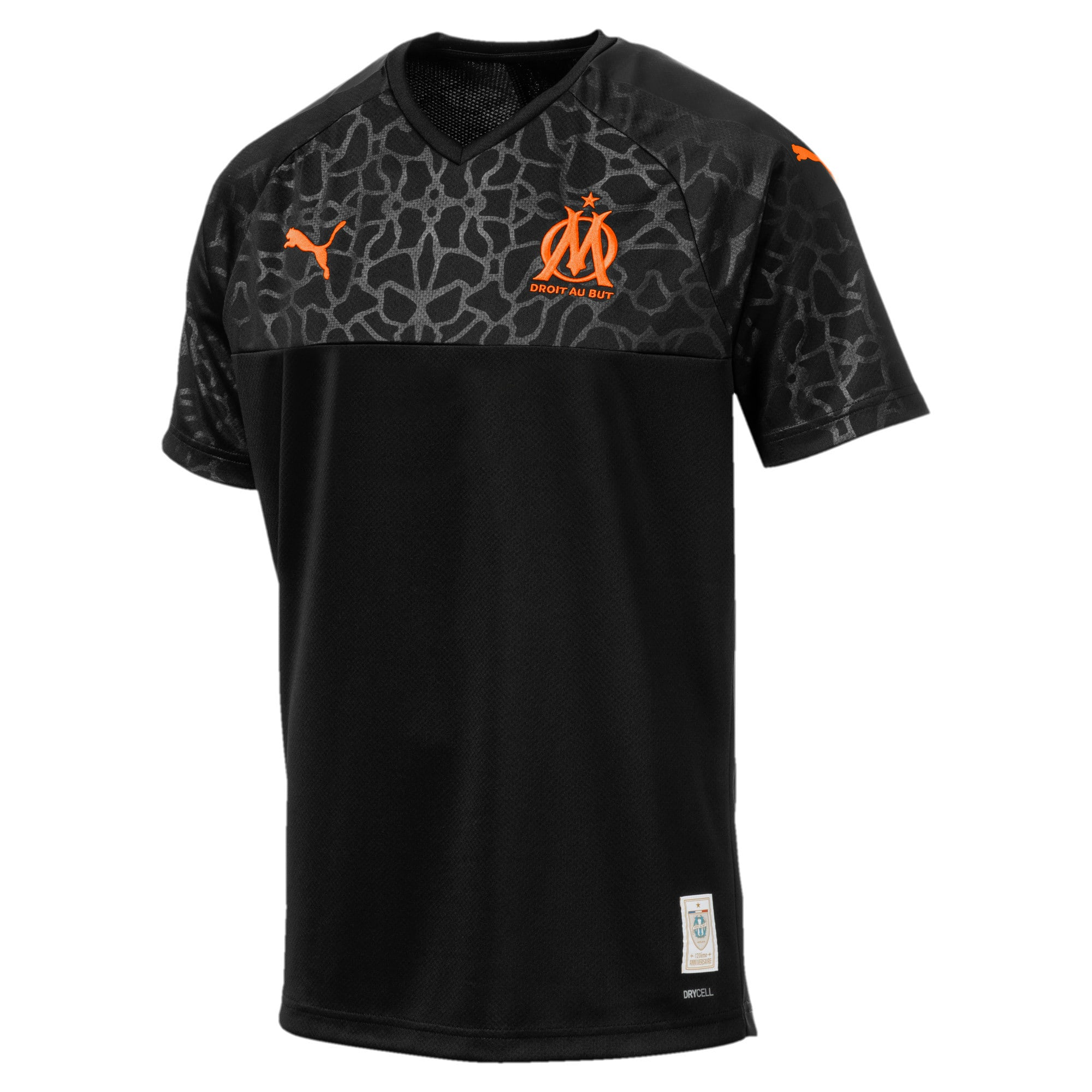 Thumbnail 1 of Olympique de Marseille Men's Replica Third Jersey, Puma Black-Orange Popsicle, medium