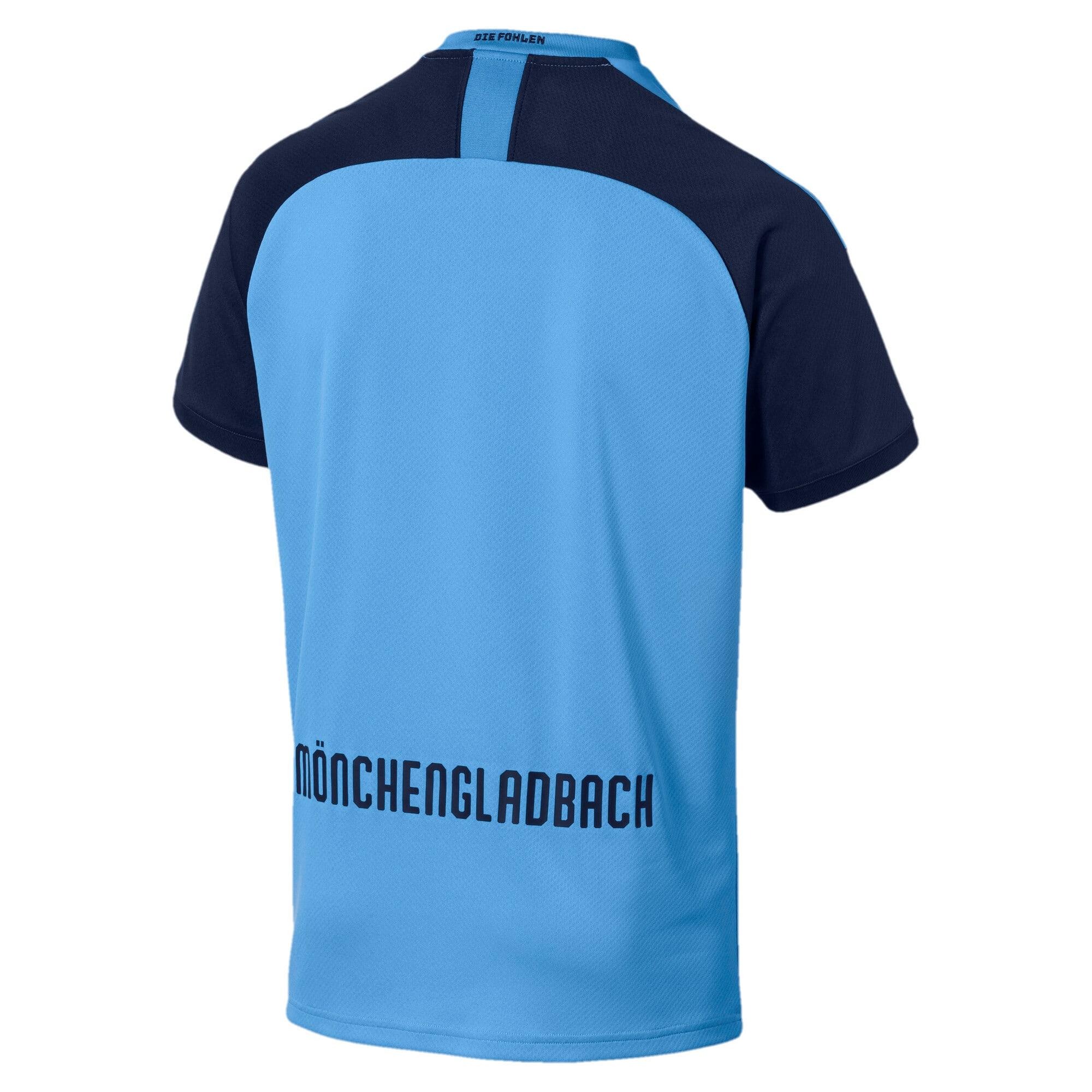 Thumbnail 2 of Borussia Mönchengladbach Men's Away Replica Jersey, Team Light Blue-Peacoat, medium