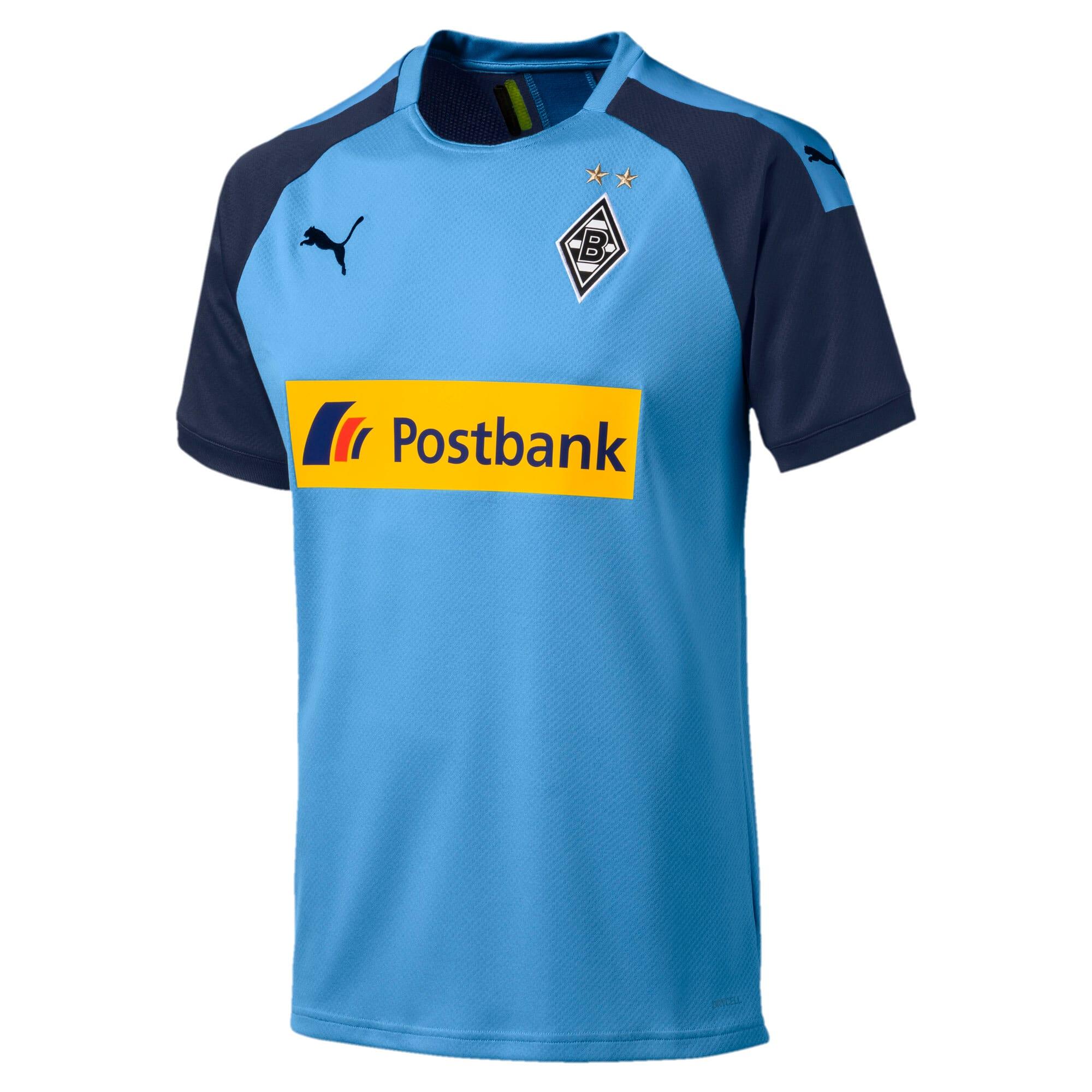 Thumbnail 1 of Borussia Mönchengladbach Men's Away Replica Jersey, Team Light Blue-Peacoat, medium