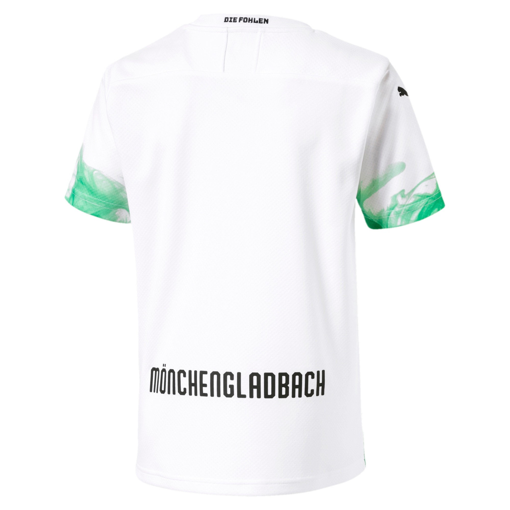 Thumbnail 2 of Borussia Mönchengladbach Kids' Home Replica Jersey, Puma White-Bright Green, medium