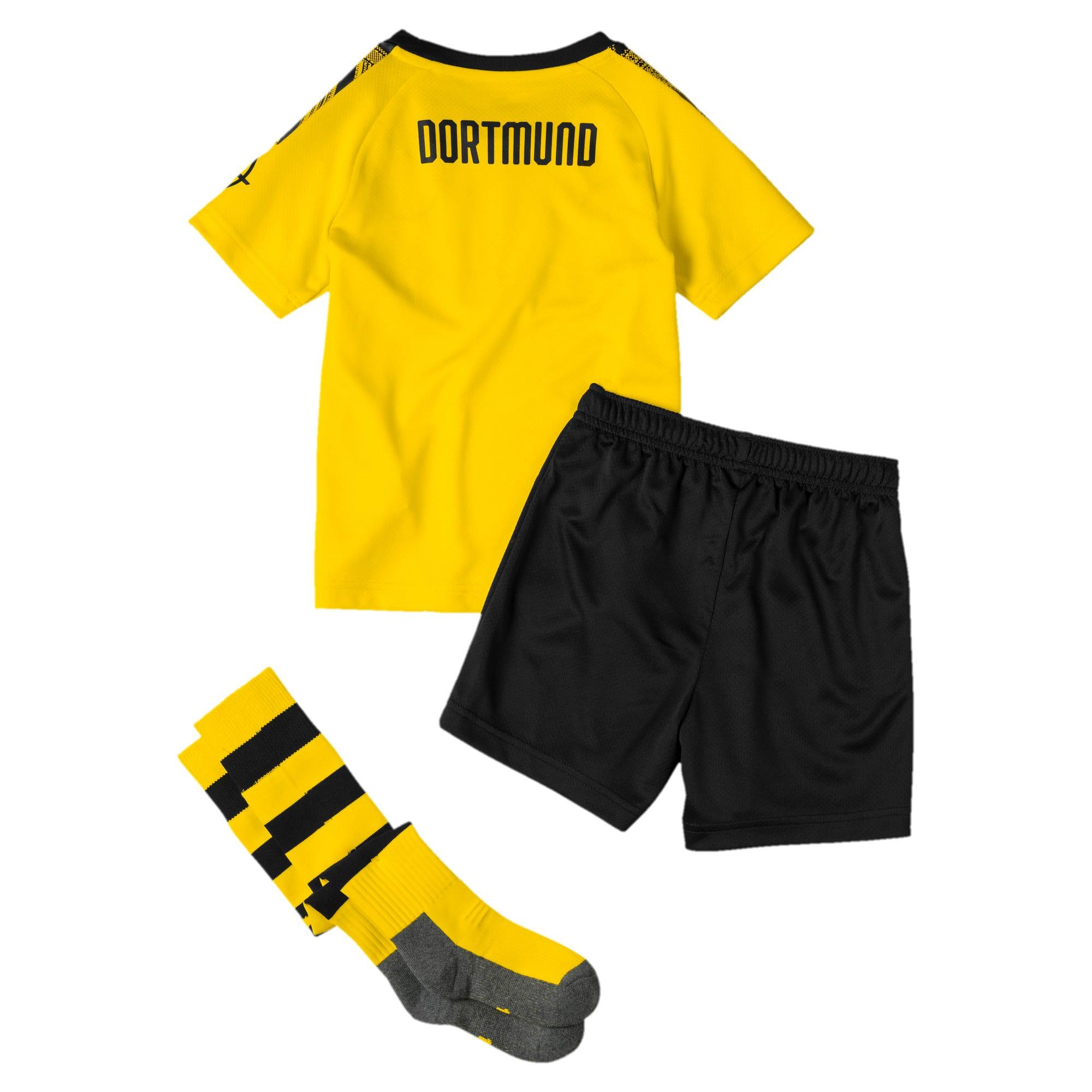 Thumbnail 2 of BVB Kinder Heim Mini Set mit Socken, Cyber Yellow-Puma Black, medium