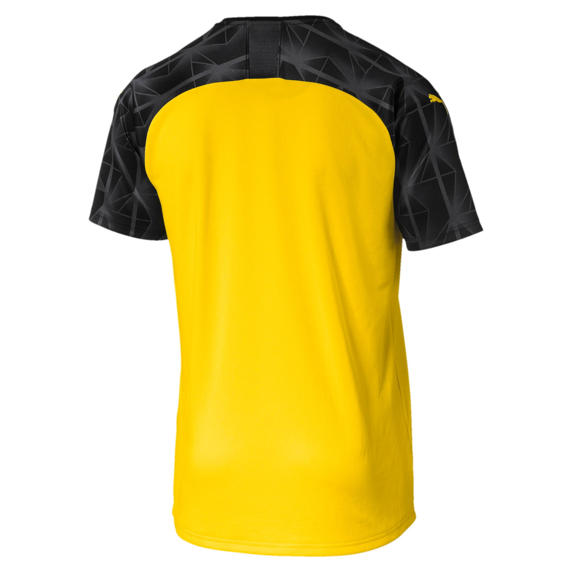 Thumbnail 2 of BVB Men's Replica Cup Jersey, Cyber Yellow-Puma Black, medium