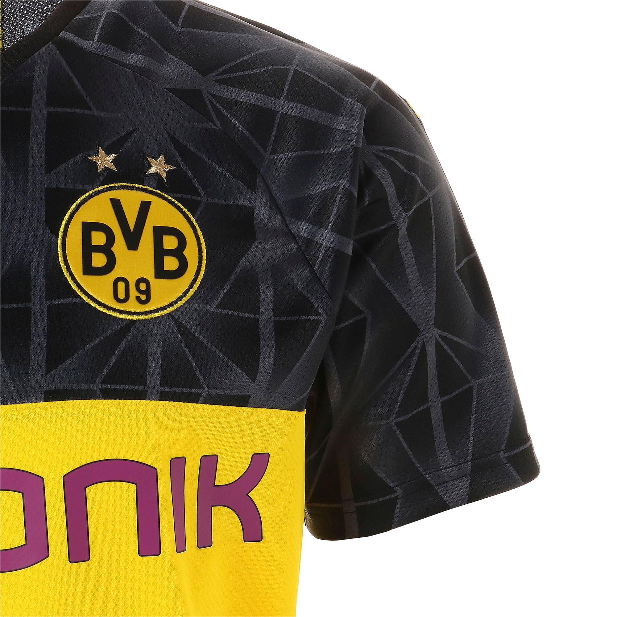 Thumbnail 5 of ドルトムント BVB SS カップ レプリカシャツ (半袖), Cyber Yellow-Puma Black, medium-JPN