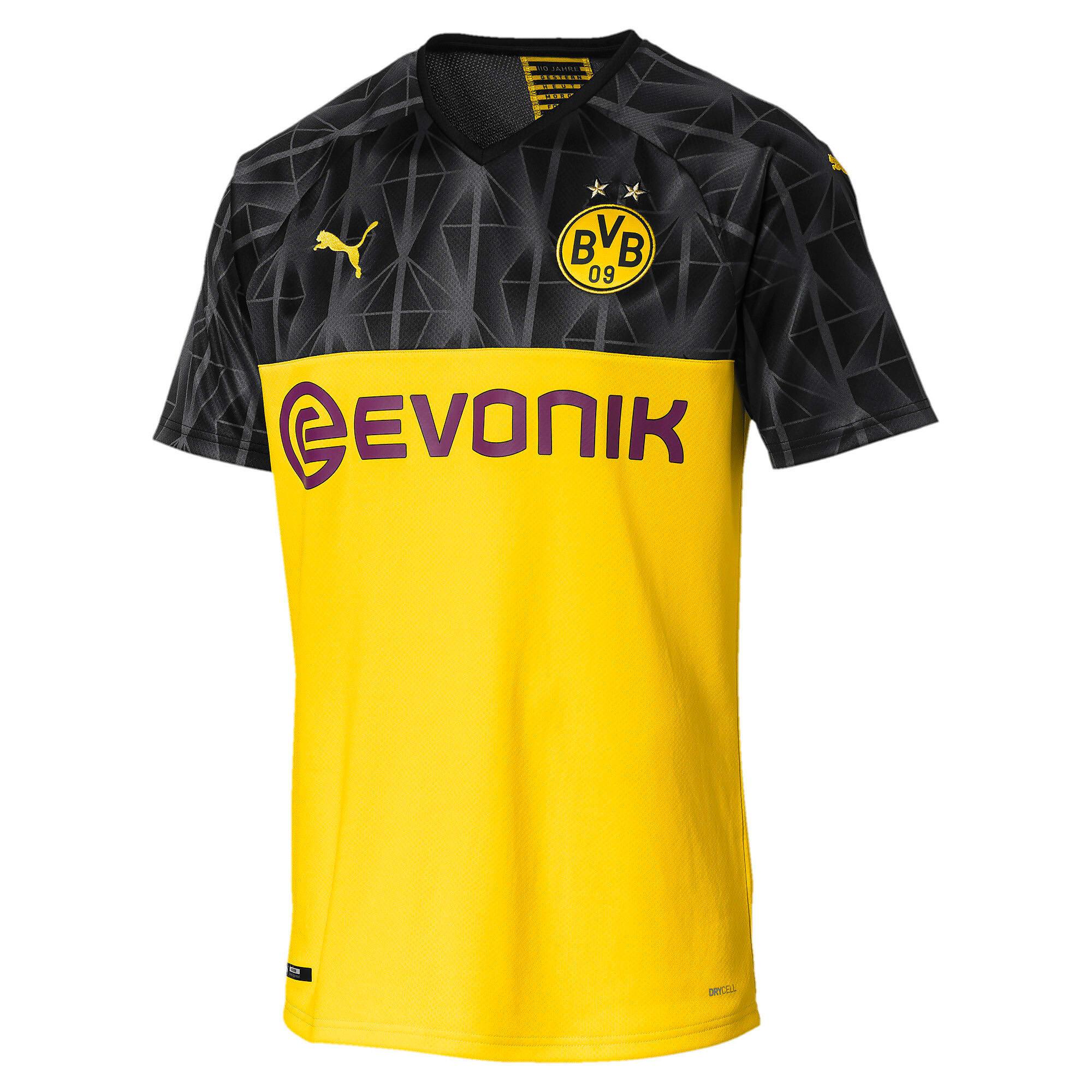 Thumbnail 1 of ドルトムント BVB SS カップ レプリカシャツ (半袖), Cyber Yellow-Puma Black, medium-JPN
