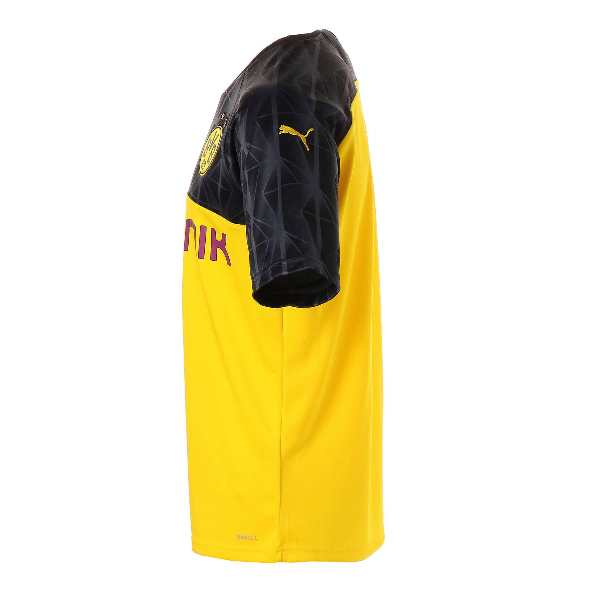 Thumbnail 2 of ドルトムント BVB SS カップ レプリカシャツ (半袖), Cyber Yellow-Puma Black, medium-JPN