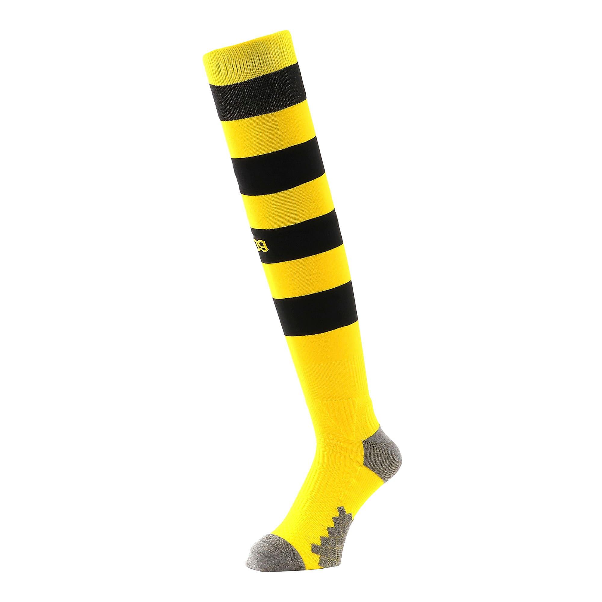 Thumbnail 1 of BVB フープド ストッキング, Cyber Yellow-Puma Black, medium-JPN