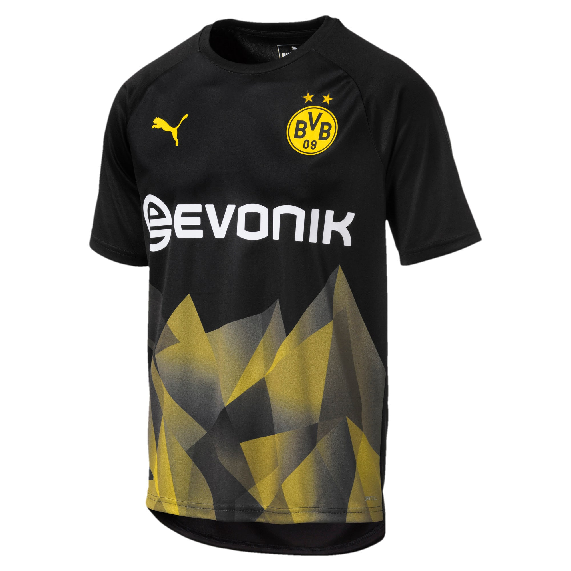 Thumbnail 1 of BVB Men's International Stadium Jersey, Puma Black-Cyber Yellow, medium