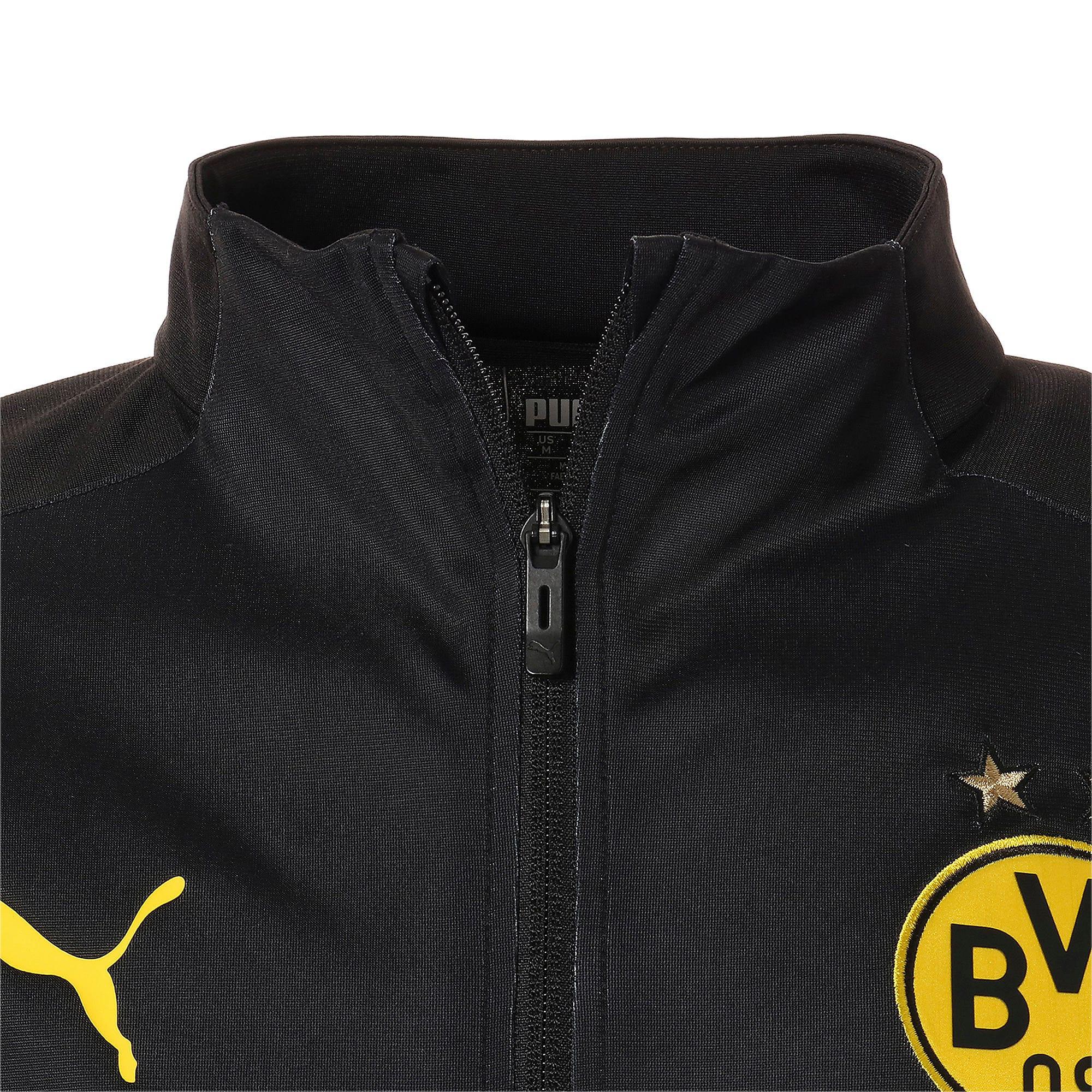 Thumbnail 7 of ドルトムント BVB INT スタジアム ジャケット, Puma Black-Cyber Yellow, medium-JPN