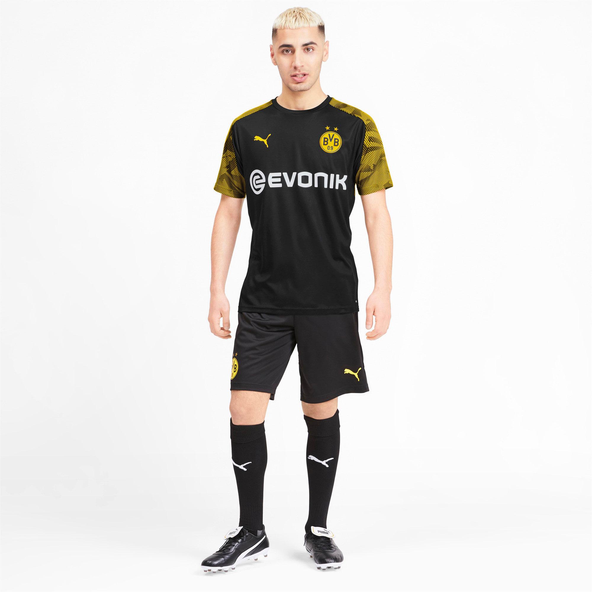 Miniatura 3 de Camiseta de entrenamiento BVB para hombre, Puma Black-Cyber Yellow, mediano