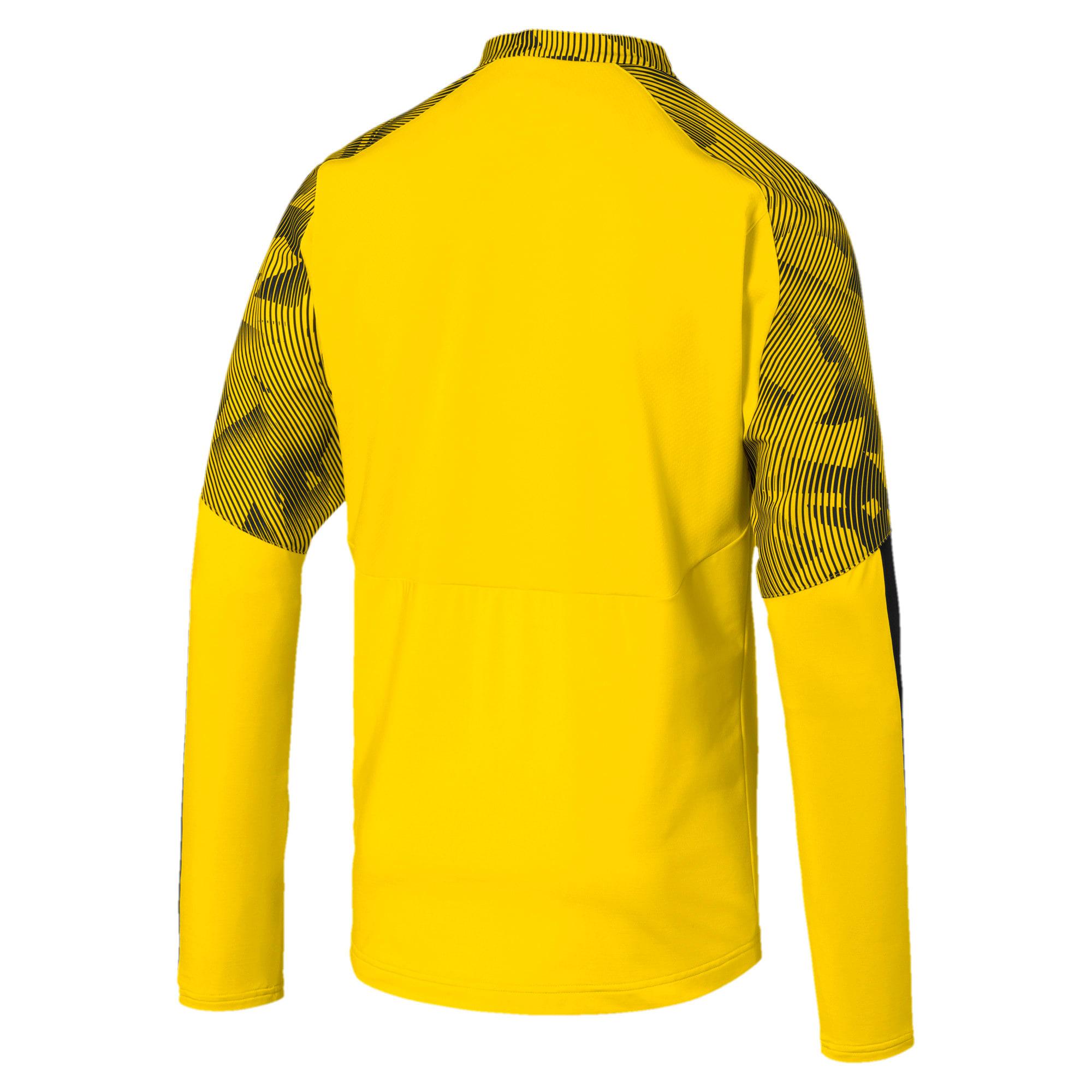 Thumbnail 5 of BVB Quarter Zip Men's Training Top, Cyber Yellow-Puma Black, medium