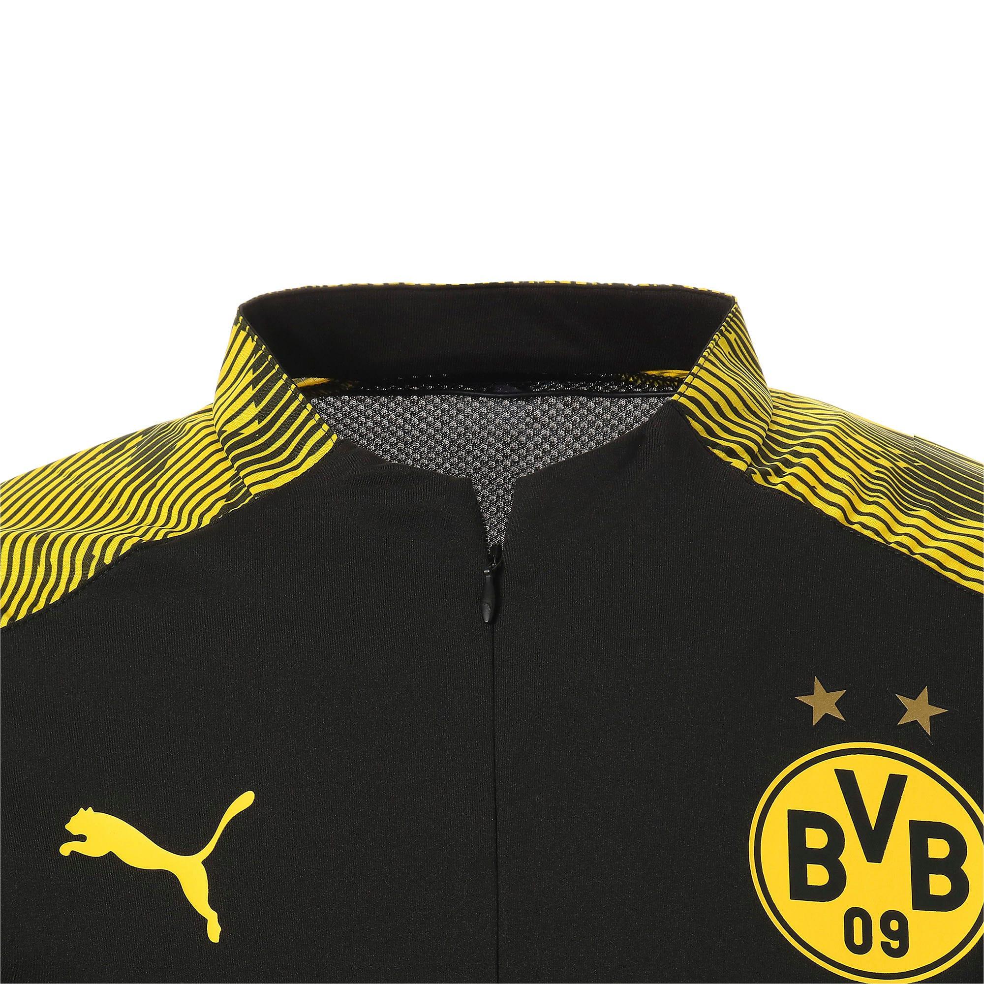 Thumbnail 10 of ドルトムント BVB 1/4 ジップ トレーニング トップ, Puma Black-Cyber Yellow, medium-JPN