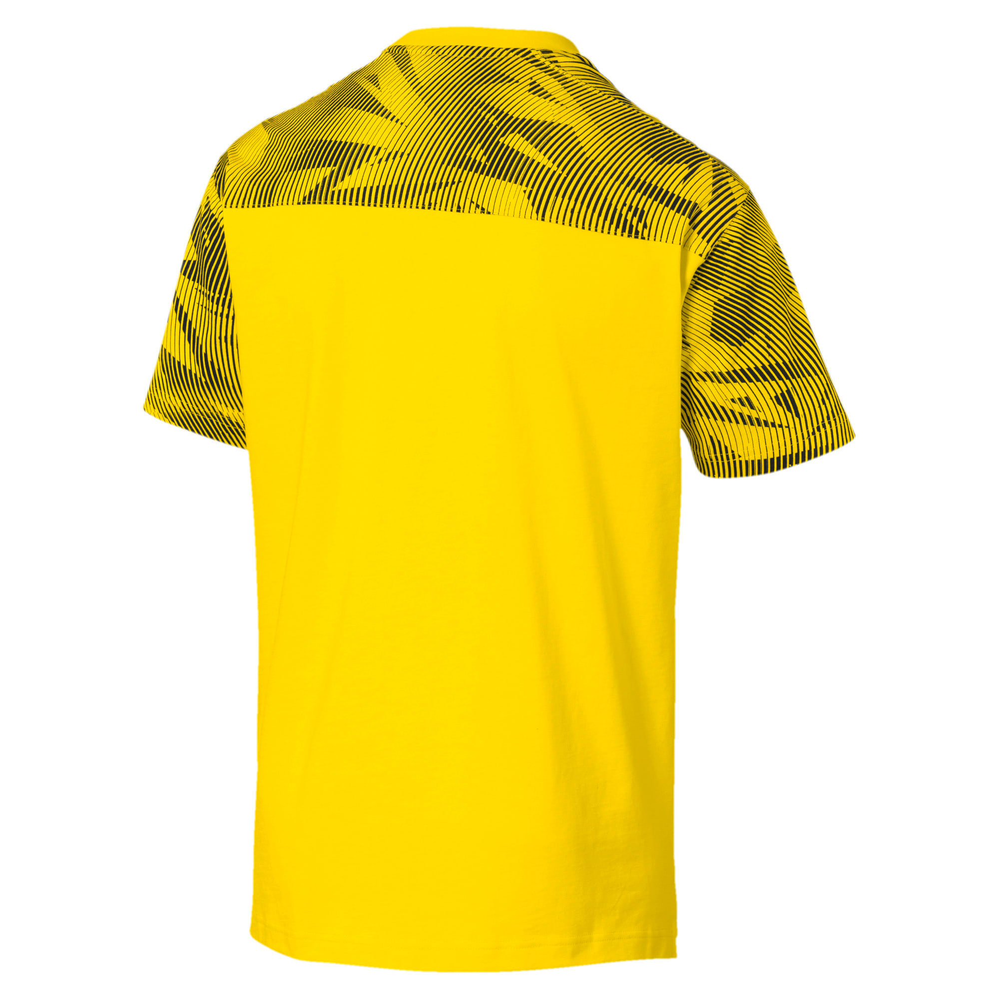 Thumbnail 5 of BVB Casuals Men's Tee, Cyber Yellow-Puma Black, medium
