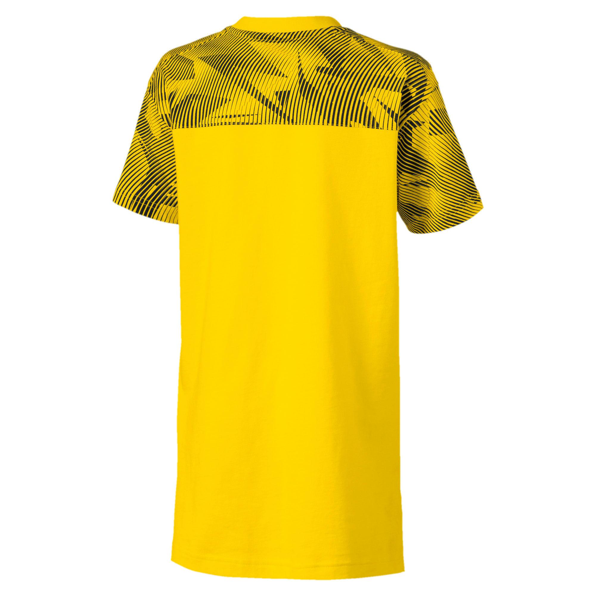 Thumbnail 2 of BVB Casuals Kinder T-Shirt, Cyber Yellow-Puma Black, medium