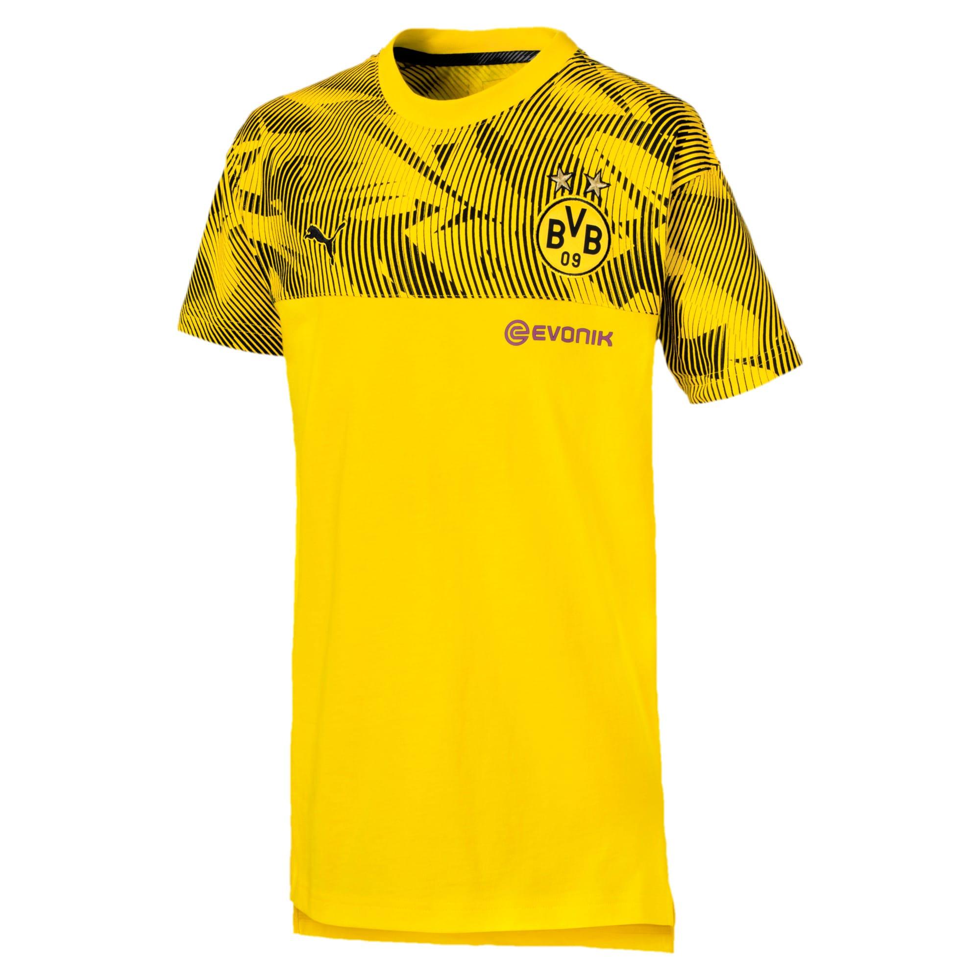 Thumbnail 1 of BVB Casuals Kinder T-Shirt, Cyber Yellow-Puma Black, medium