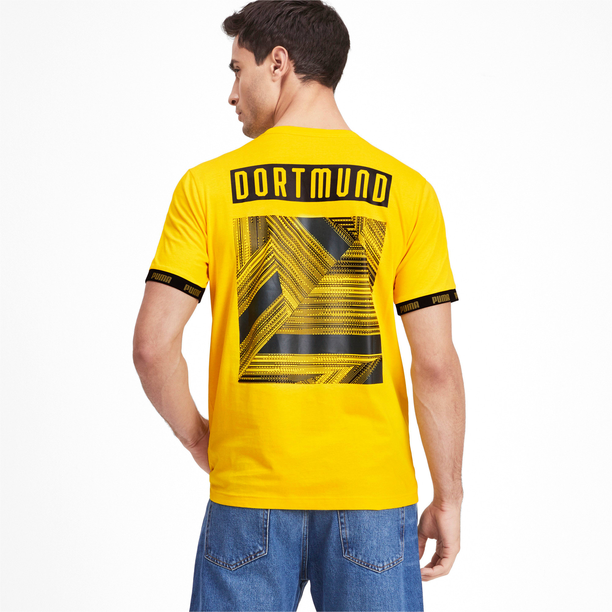 BVB Football Culture Men's Tee, Cyber Yellow, large