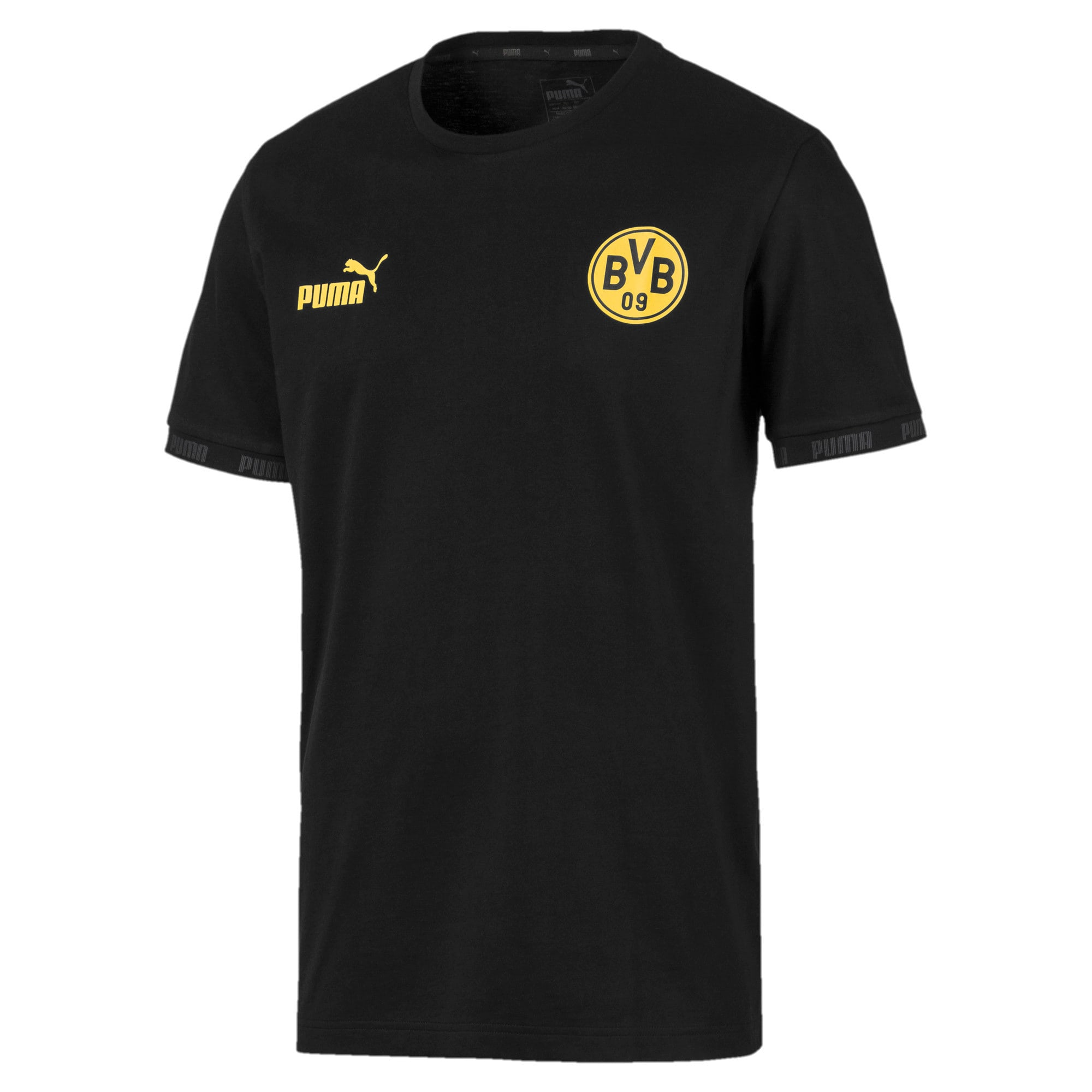 Thumbnail 4 of BVB Football Culture Men's Tee, Puma Black, medium