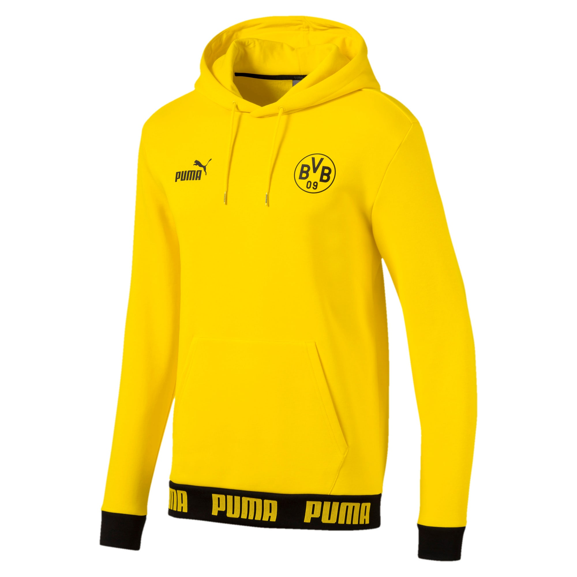 Thumbnail 4 of BVB Ftbl Culture Men's Hoodie, Cyber Yellow, medium