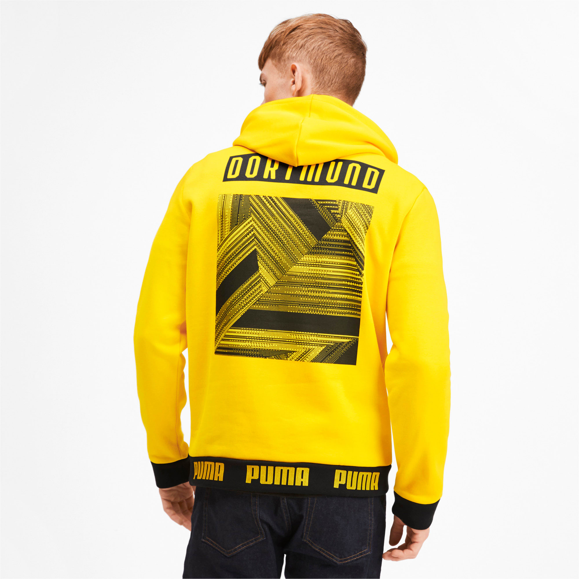 Thumbnail 2 of BVB Ftbl Culture Men's Hoodie, Cyber Yellow, medium