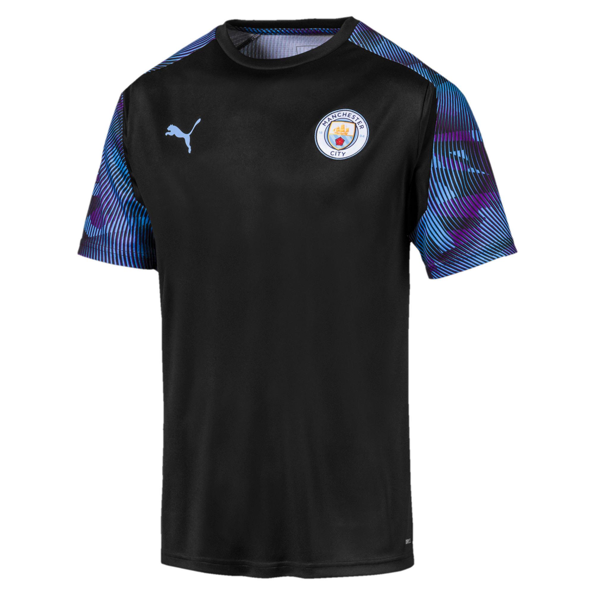 Thumbnail 1 of Maillot d'entraînement Manchester City FC pour homme, Puma Black-Team Light Blue, medium