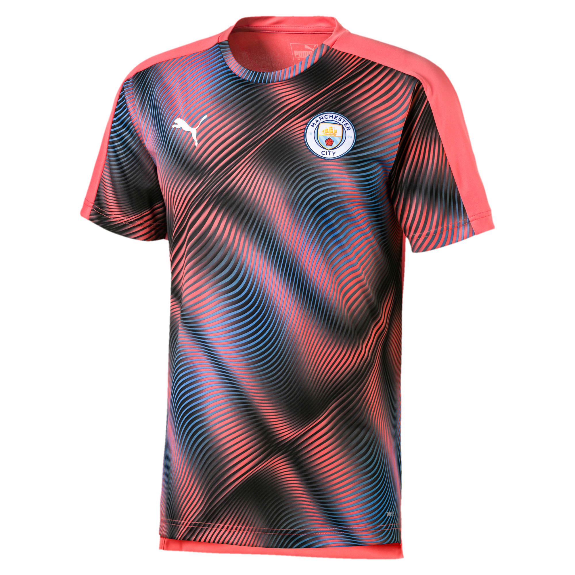 Thumbnail 1 van Man City Stadium League shirt voor heren, Georgia Peach-Puma Black, medium
