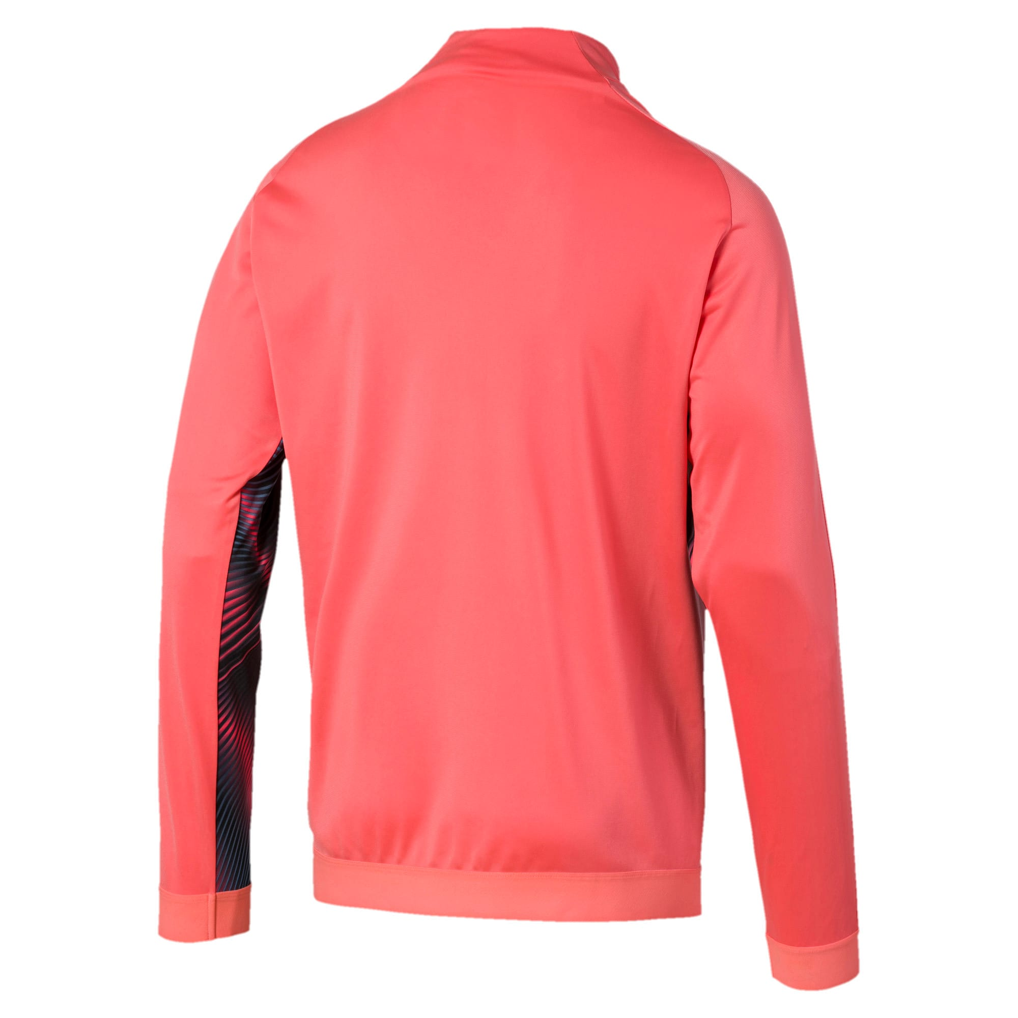 Thumbnail 2 of Man City Stadium League Men's Jacket, Georgia Peach-Puma Black, medium