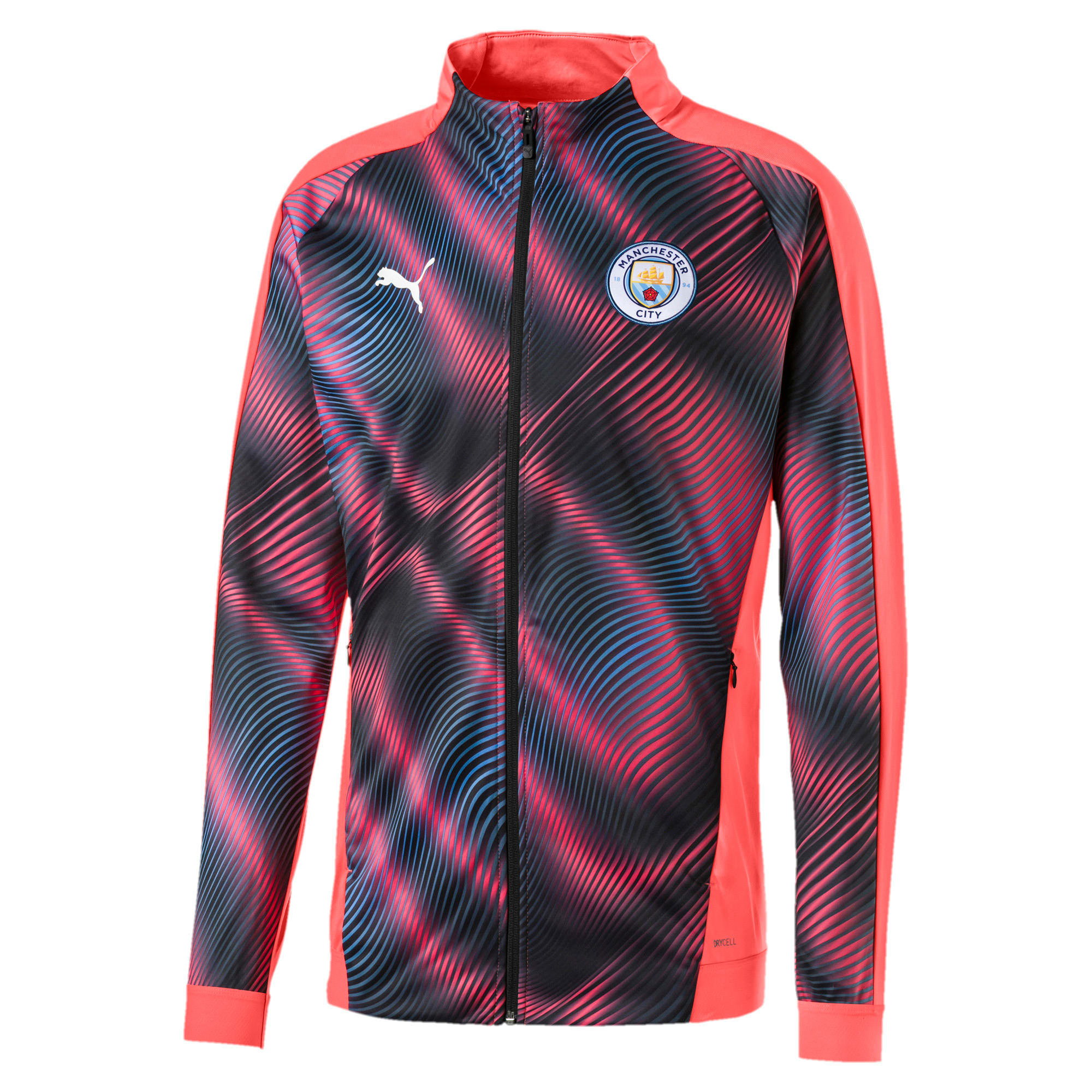 Thumbnail 1 of Man City Stadium League Men's Jacket, Georgia Peach-Puma Black, medium