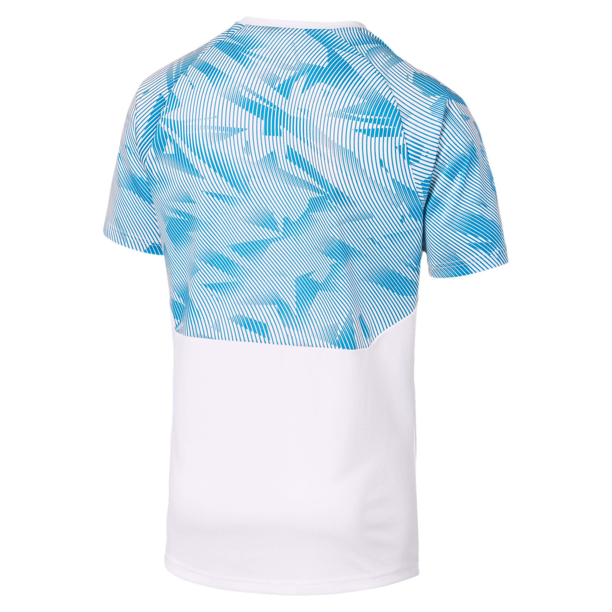 Thumbnail 5 of Olympique de Marseille Men's Training Jersey, Puma White-Bleu Azur, medium