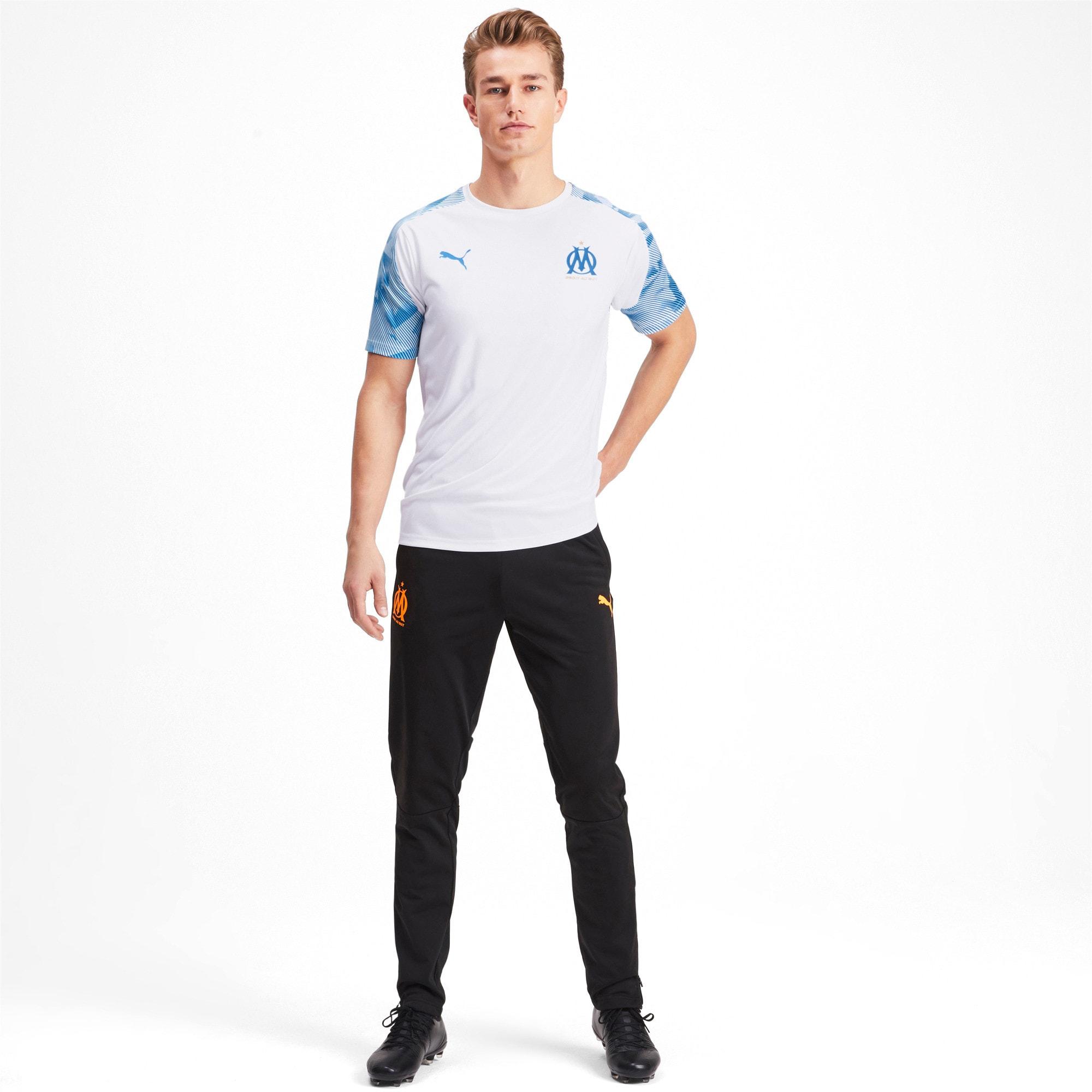 Thumbnail 3 of Olympique de Marseille Men's Training Jersey, Puma White-Bleu Azur, medium