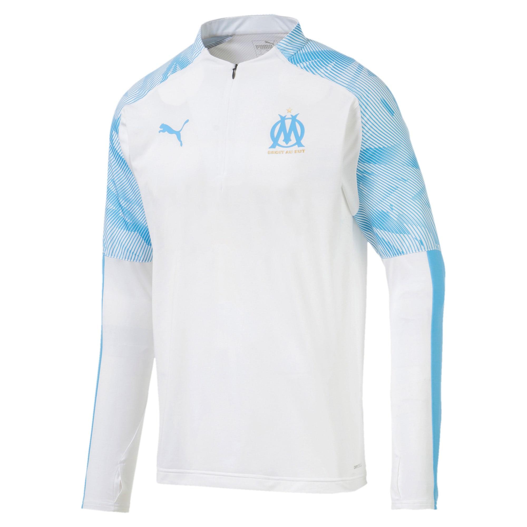 Thumbnail 4 of Olympique de Marseille Quarter Zip Men's Training Top, Puma White, medium