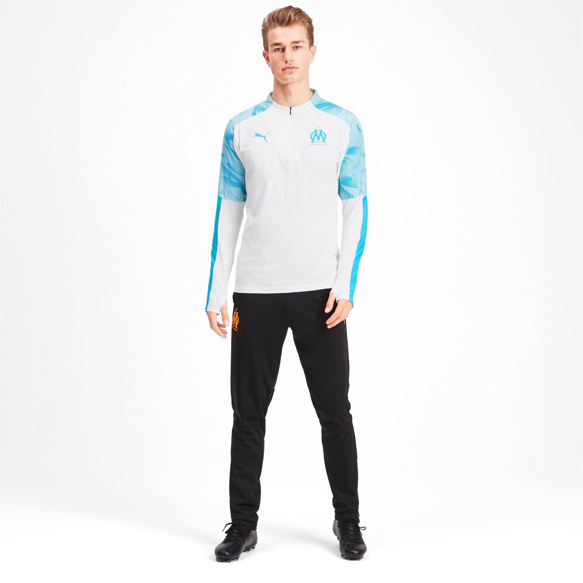 Thumbnail 3 of Olympique de Marseille Quarter Zip Men's Training Top, Puma White, medium