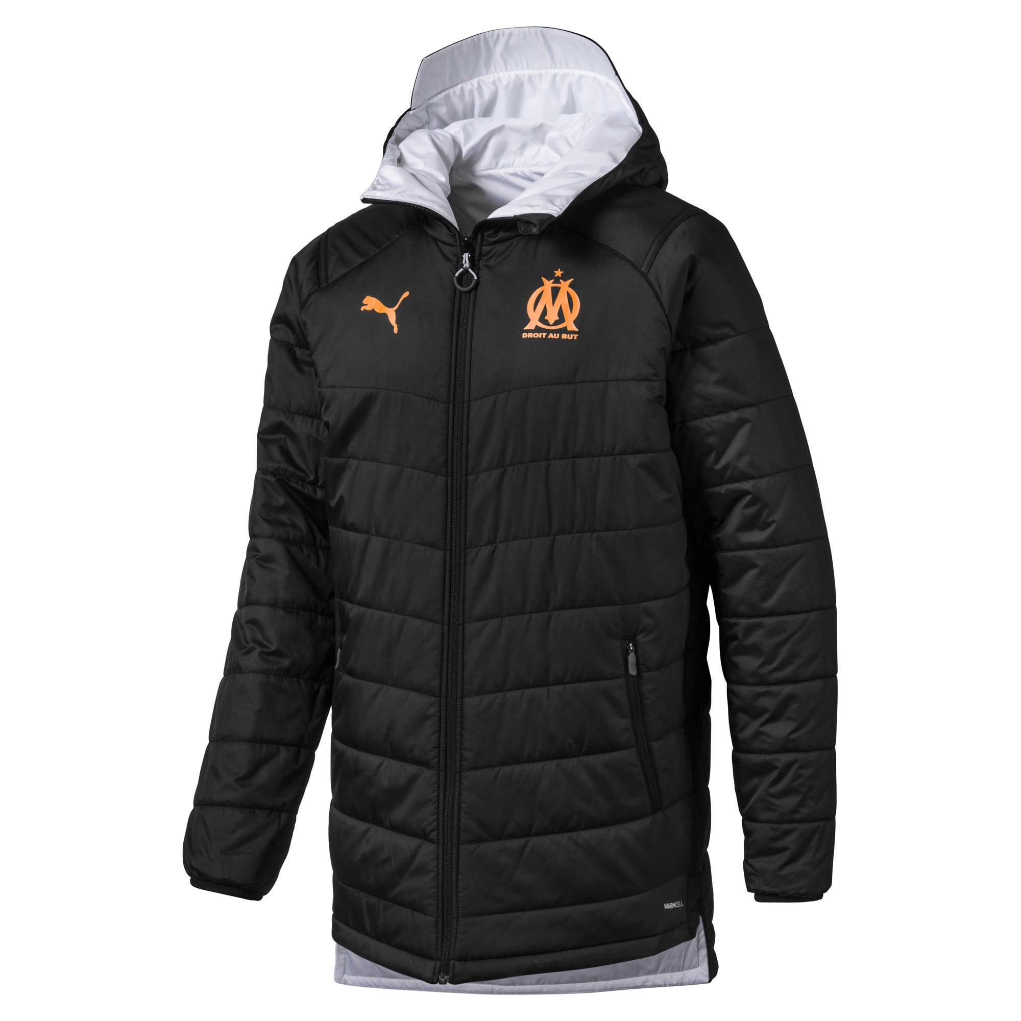 Thumbnail 4 of Olympique de Marseille Bench Men's Replica Reversible Jacket, Puma Black-Orange Popsicle, medium