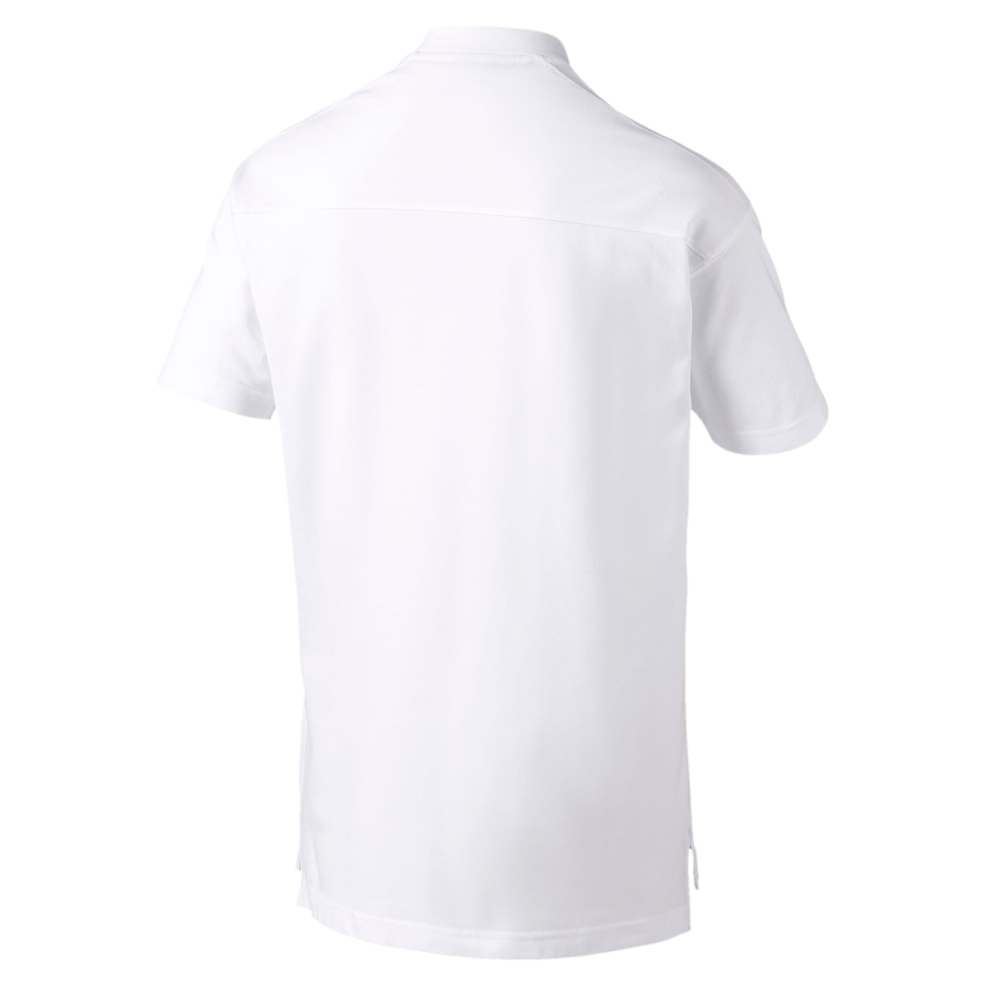 Thumbnail 5 of Olympique de Marseille Casuals Men's Polo Shirt, Puma White-Bleu Azur, medium