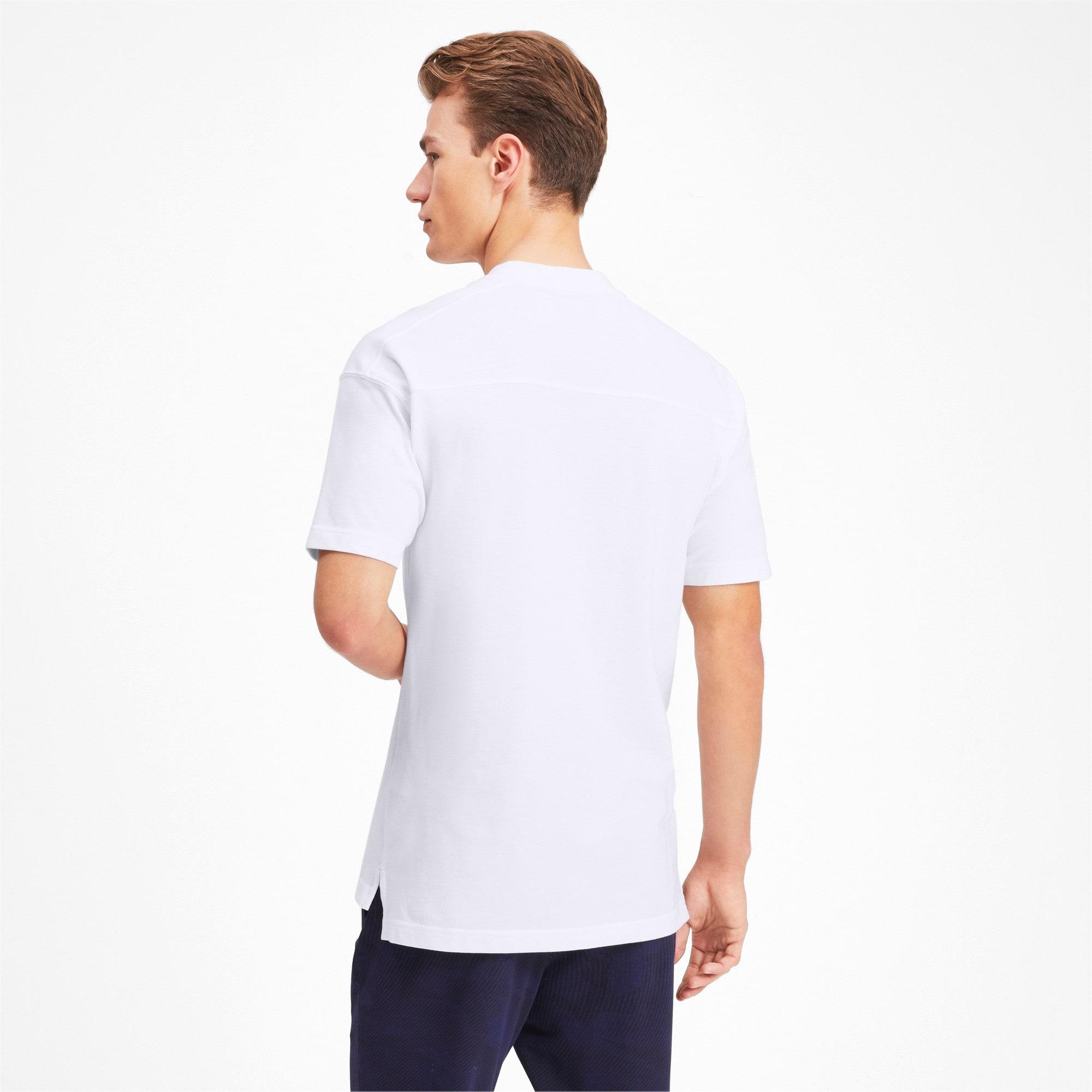 Thumbnail 2 of Olympique de Marseille Casuals Men's Polo Shirt, Puma White-Bleu Azur, medium