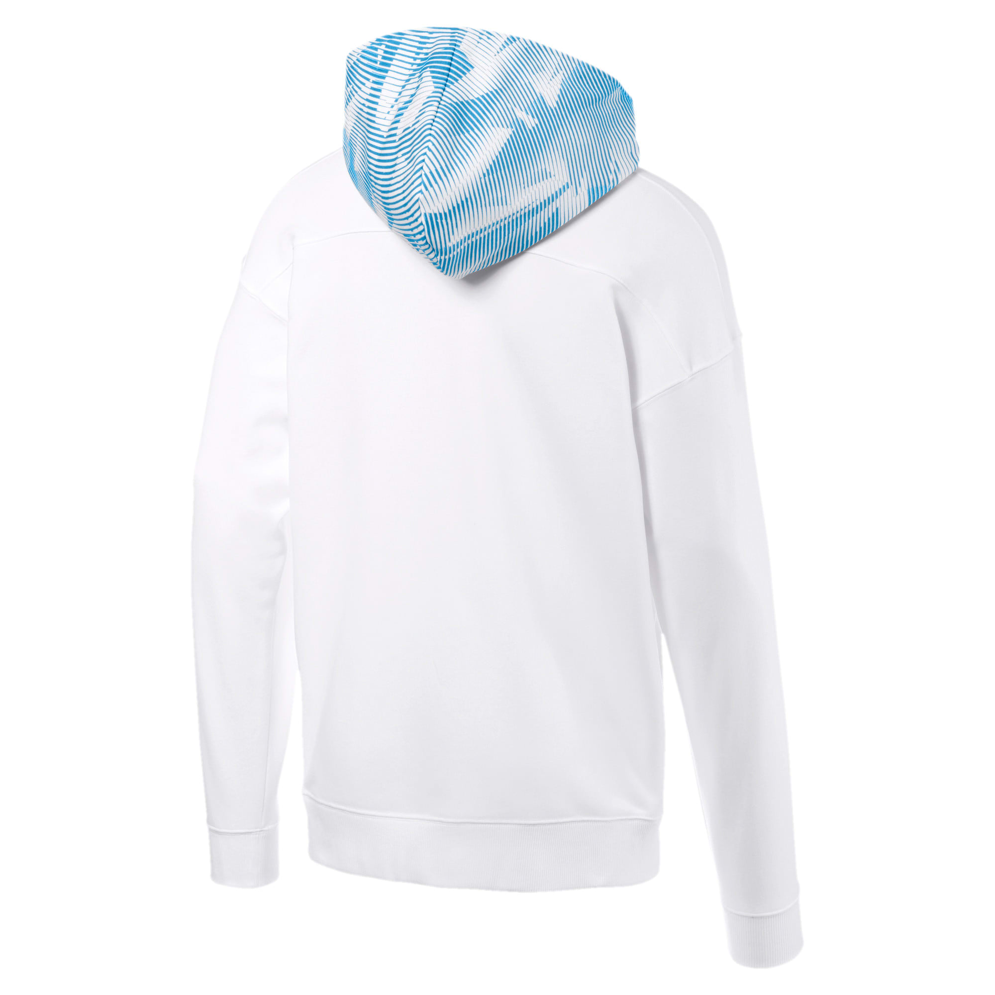 Thumbnail 5 of Olympique de Marseille Casuals Men's Zipped Hoodie, Puma White-Bleu Azur, medium