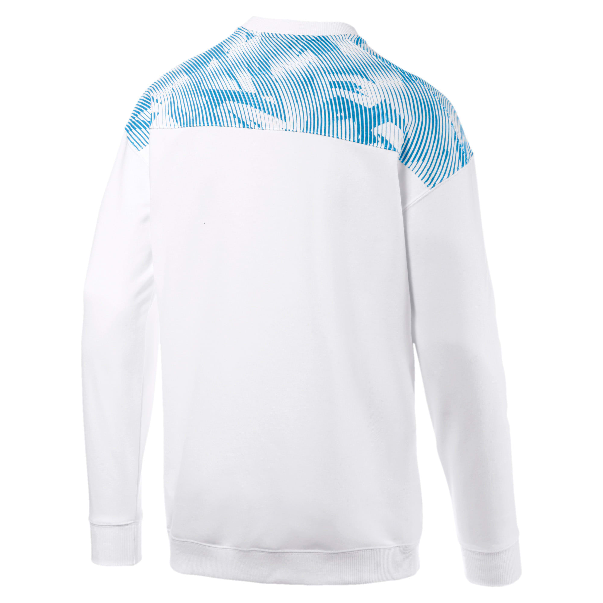 Thumbnail 5 of Olympique de Marseille Casuals Men's Sweater, Puma White-Bleu Azur, medium