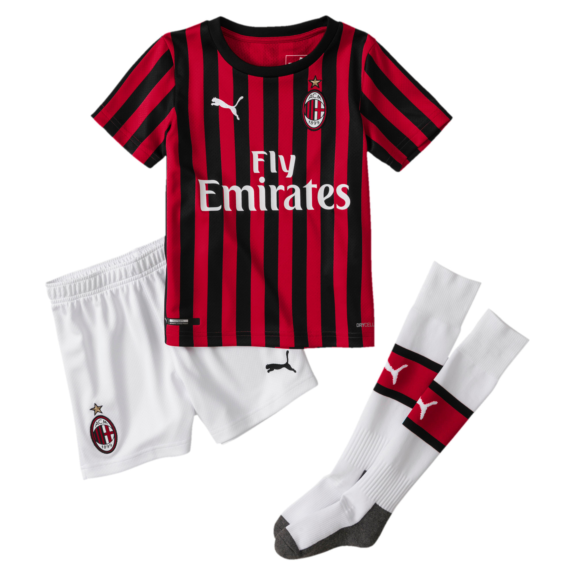 Thumbnail 1 of AC Milan Home Replica Mini Kit, Tango Red -Puma Black, medium