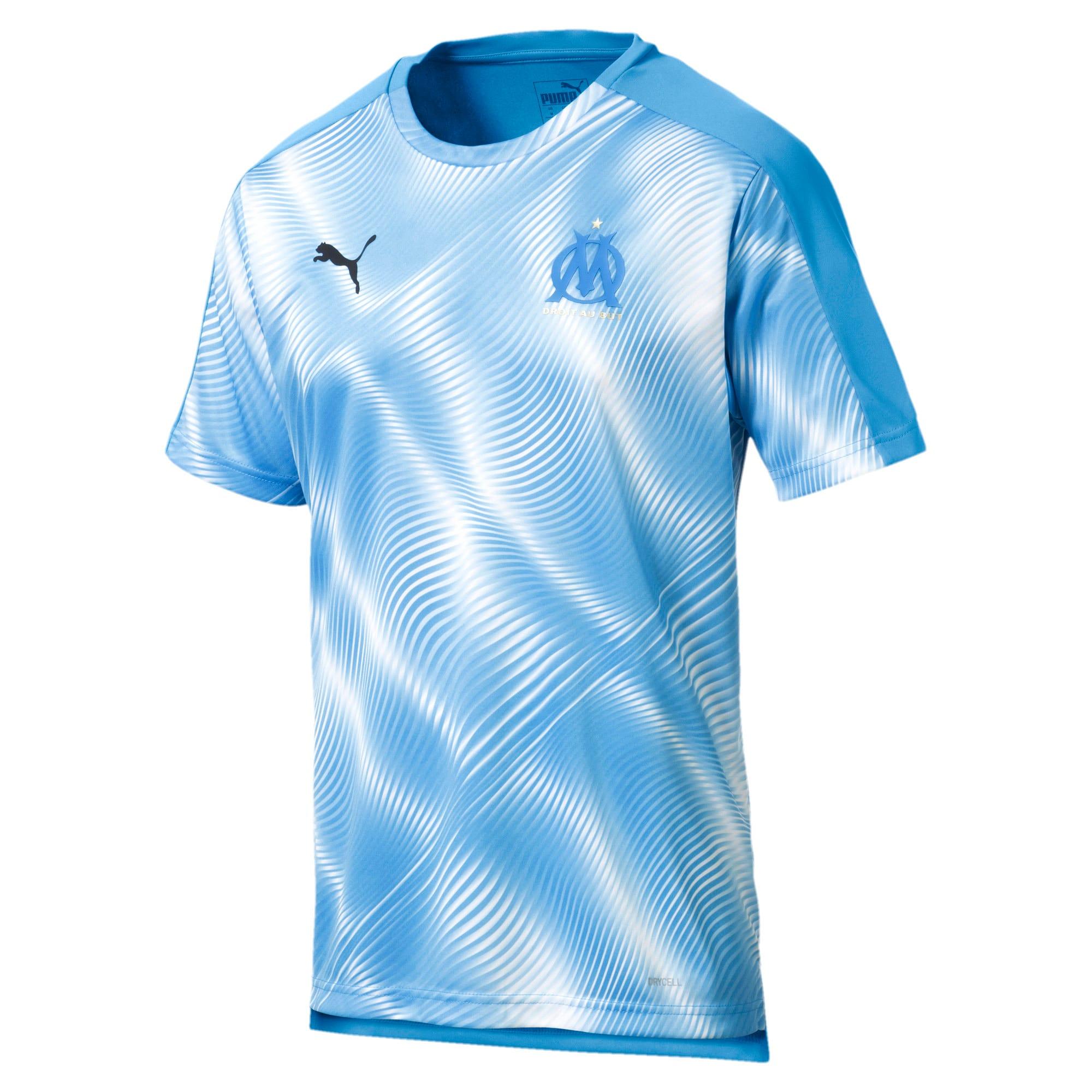 Miniatura 1 de Camiseta Olympique de Marseille Domestic League Stadiumpara hombre, Bleu Azur-Puma White, mediano