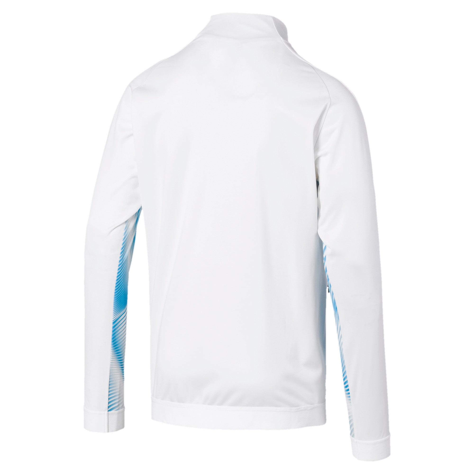 Thumbnail 2 of Olympique de Marseille Stadium Men's Jacket, Puma White-Bleu Azur, medium