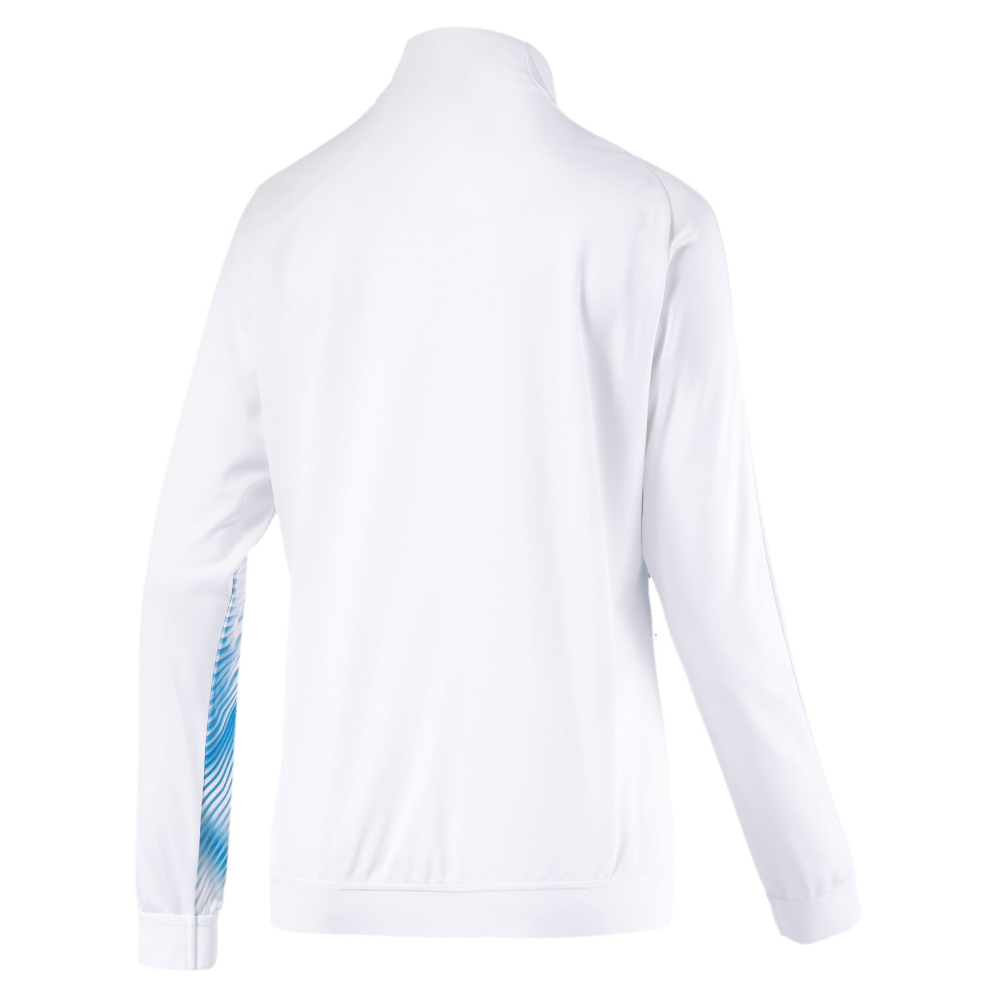 Thumbnail 2 of Olympique de Marseille Stadium Women's Replica Jacket, Puma White-Bleu Azur, medium