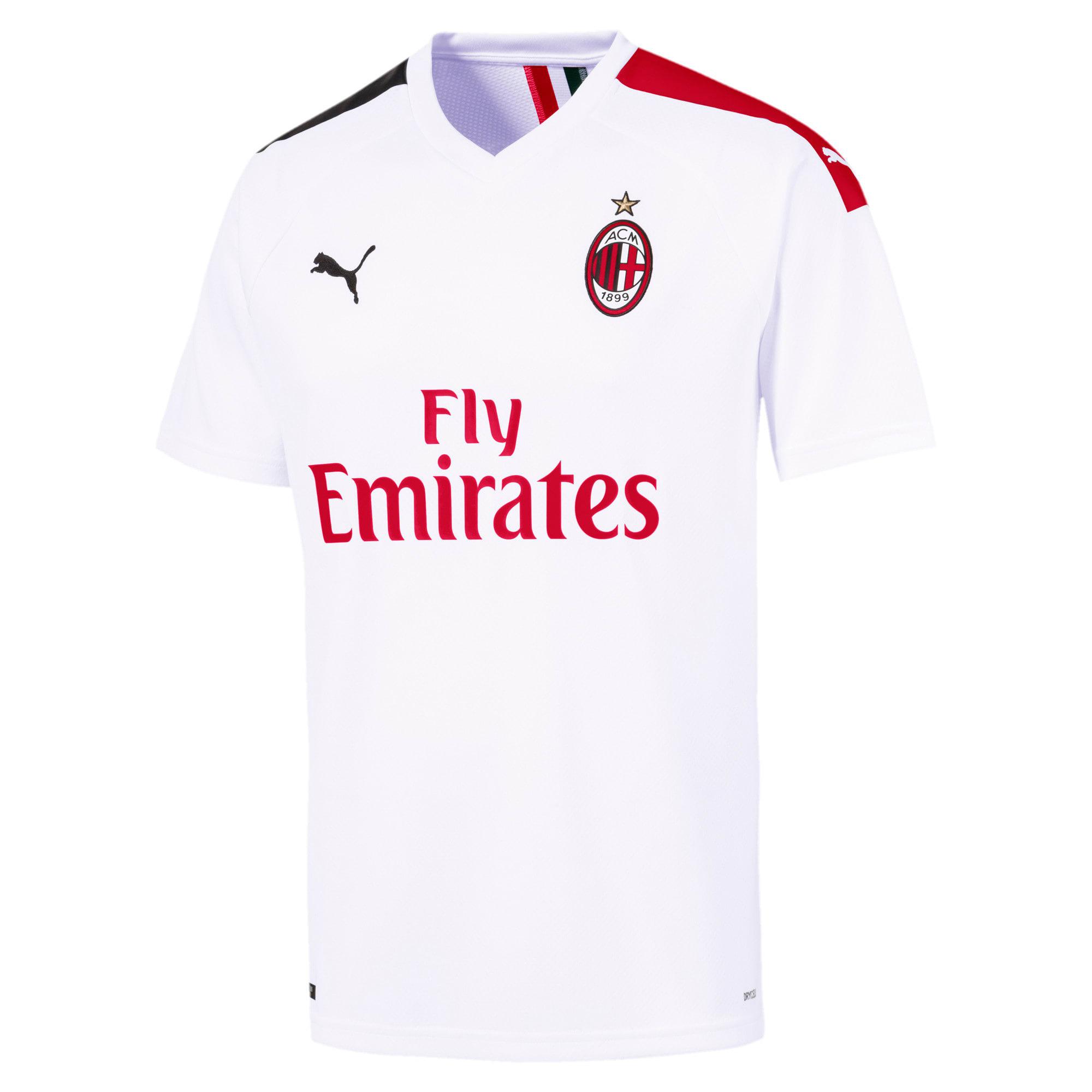 Thumbnail 1 of AC Milan Men's Away Replica Jersey, Puma White-Tango Red, medium