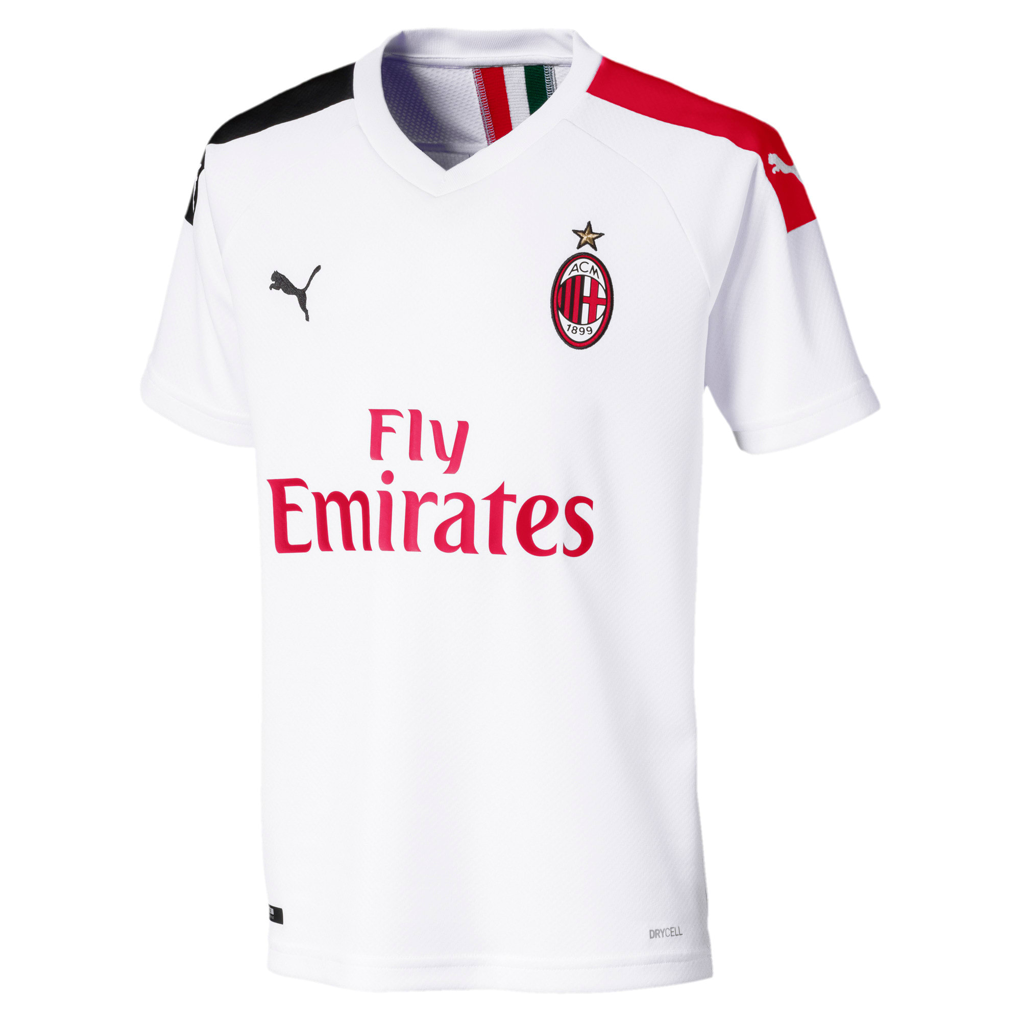 Thumbnail 1 of AC Milan Away Replica Kids' Jersey, Puma White-Tango Red, medium